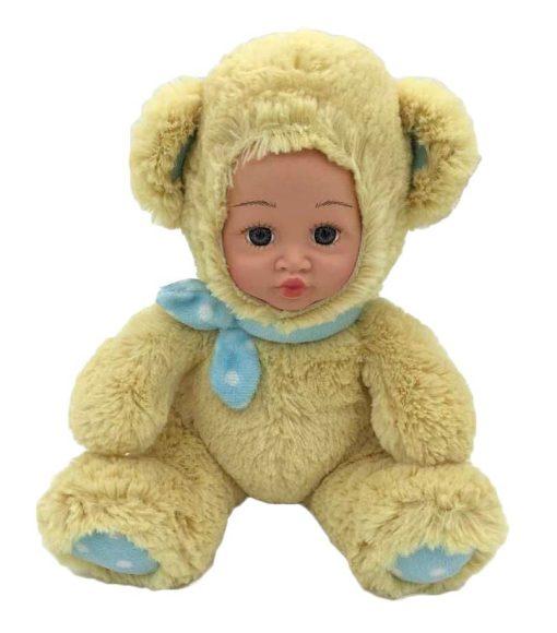 Shantou Gepai Игрушка Мой мишка бежевый.61223Оригинальная мягконабивная игрушка Мой мишка - очаровательная кукла в забавном костюмчике животного. Личико куклы очень реалистично! А сама игрушка очень мягкая и приятная на ощупь. Кукла выглядит очень трогательно и обязательно привлечет внимание малыша!