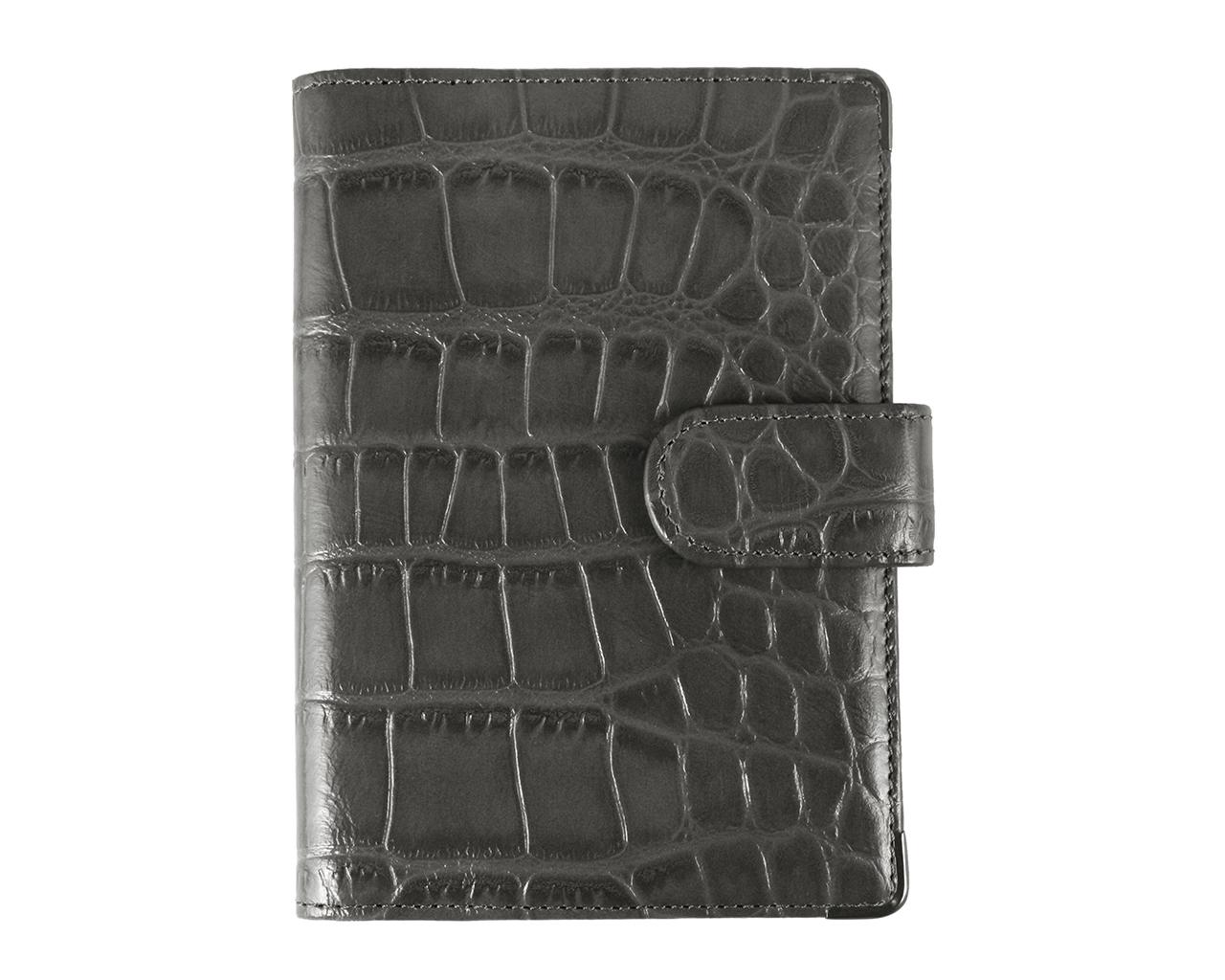 Обложка для документов женская Leo Ventoni, цвет: серый. L330222L330222-grey coccoСтильная обложка для документов Leo Ventoni выполнена из натуральной кожи с тиснением под крокодила, дополнена металлической фурнитурой. Изделие раскладывается пополам и закрывается хлястиком на кнопку. Внутри размещены два накладных кармана для паспорта и четыре кармана для кредитных карт. Изделие поставляется в фирменной упаковке. Оригинальная обложка для документов Leo Ventoni станет отличным подарком для человека, ценящего качественные и практичные вещи.