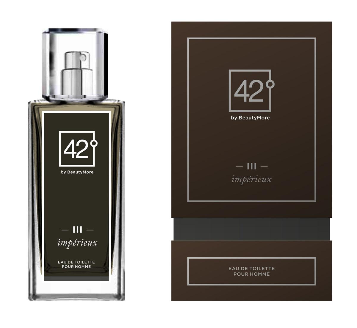 Fragrance 42 Туалетная вода для мужчин III Imperieux 100 мл42-96156Импери - аромат созданный для настоящих,решительных, мужчин,уверенных в себе и смело покоряющих любые цели. Этот аромат станет завершающей ноткой в вашем неотразимом образе. Верхняя нота- мята, мандарин,нота сердца - роза,корица, кардамон, базовые ноты - пачули,янтарь,натуральная кожа.