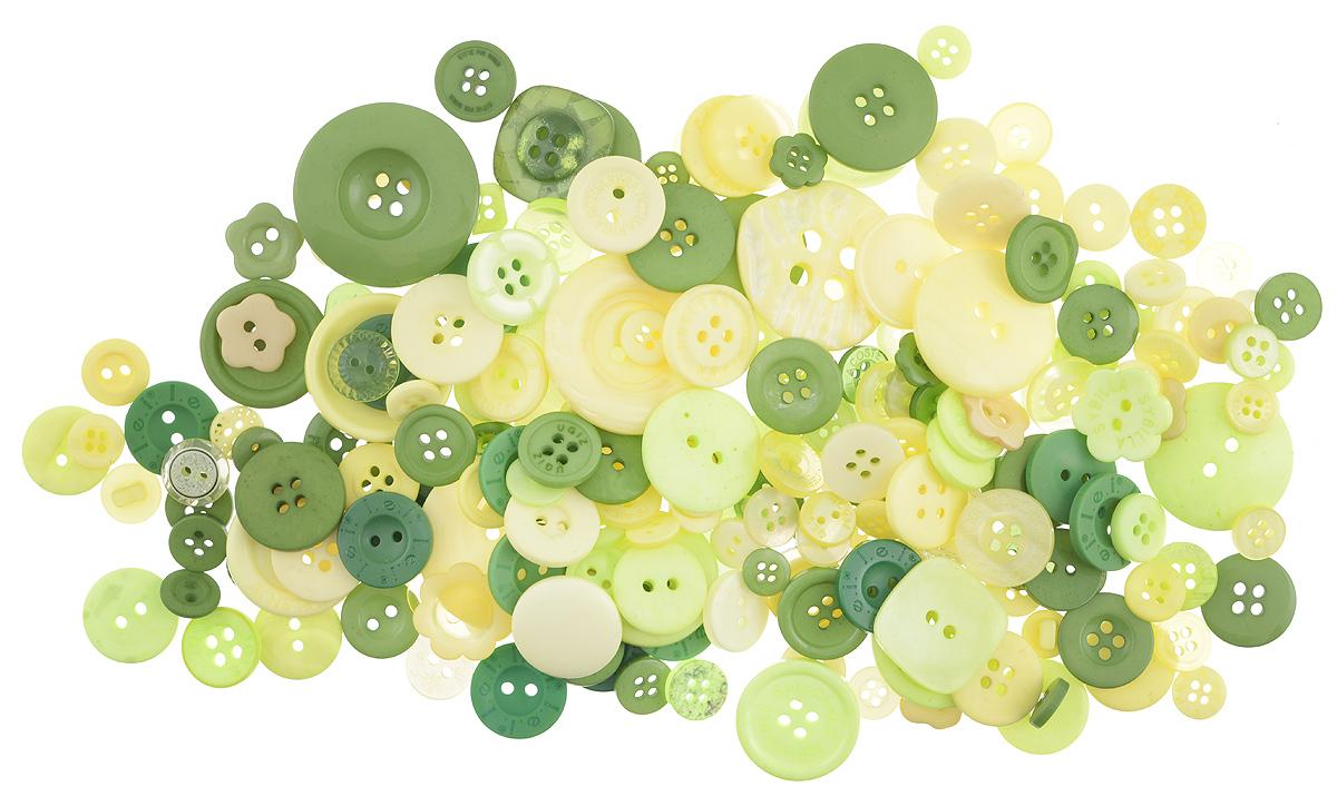 Пуговицы декоративные Buttons Galore & More Button Jars, цвет: луг, 115 г. 77088827708882_ЛугНабор пуговиц для творчества и декорирования одежды Buttons Galore & More Button Jars изготовлен из высококачественного пластика. В набор входят пуговицы различных размеров и с разным количеством отверстий. Такие пуговицы подходят для любых видов творчества: скрапбукинга, декорирования, шитья, изготовления кукол, а также для оформления одежды. С их помощью вы сможете украсить открытку, фотографию, альбом, подарок и другие предметы ручной работы. Пуговицы имеют оригинальный и яркий дизайн. Средний диаметр пуговиц: 1,7 см.