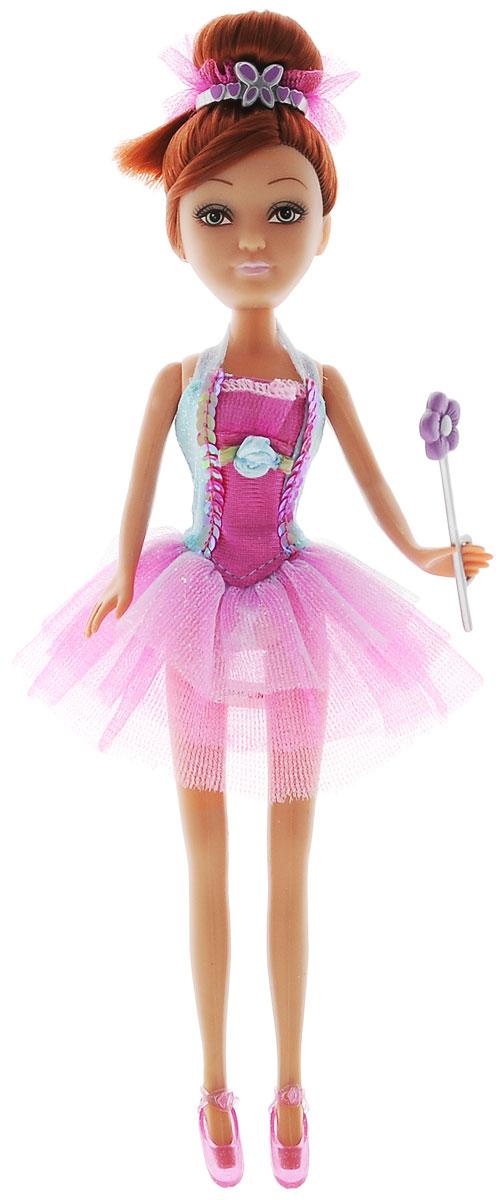 ABtoys Кукла Brilliance Fair Балерина цвет платья голубой розовый240103_шатенка, розовое платьеВеликолепная кукла Балерина обязательно порадует вашу малышку и доставит ей много удовольствия от часов, посвященных игре с ней. Куколка с длинными темными волосами и зелеными глазами одета в великолепный наряд: яркое платье с подолом из нескольких полупрозрачных юбок. Волосы убраны в строгий пучок, а для ножек имеются прозрачные розовые туфельки. Вместе с куклой в наборе предлагается оригинальная диадема с цветочком и сердечками. У балерины также имеется волшебная палочка, которую она может взять в руку. Куколка-балерина станет настоящей подружкой для своей юной обладательницы! Порадуйте свою малышку таким великолепным подарком!