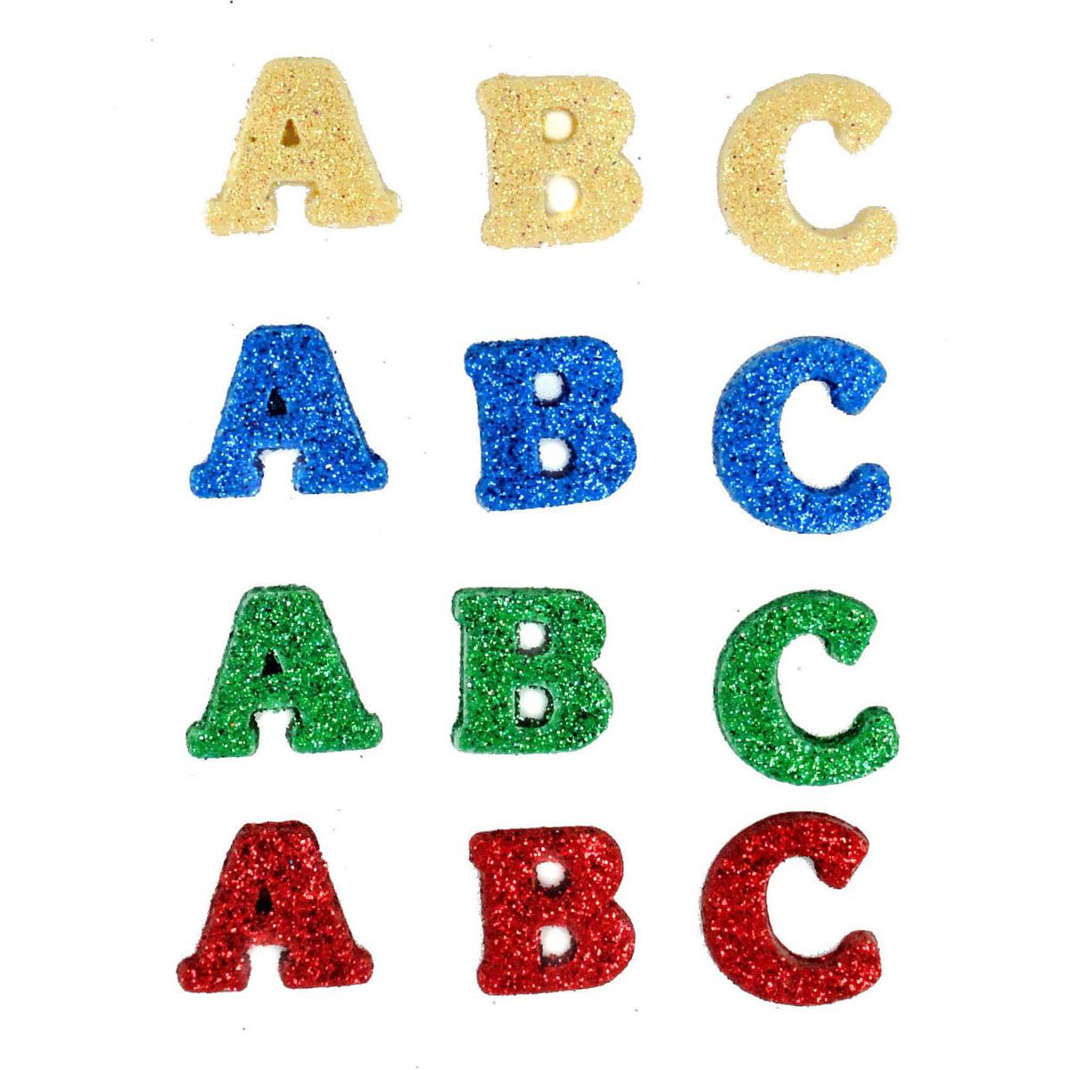 Пуговицы декоративные Dress It Up Суп из алфавита, 12 шт7712044Набор Dress It Up Суп из алфавита состоит из 12 декоративных пуговиц, выполненных из высококачественного пластика в виде букв. Такие пуговицы подходят для любых видов творчества: скрапбукинга, декорирования, шитья, изготовления кукол, а также для оформления одежды. С их помощью вы сможете украсить открытку, фотографию, альбом, подарок и другие предметы ручной работы. Все пуговицы в наборе имеют оригинальный и яркий дизайн. Средний размер пуговиц: 1,2 см х 1,5 см х 0,5 см.