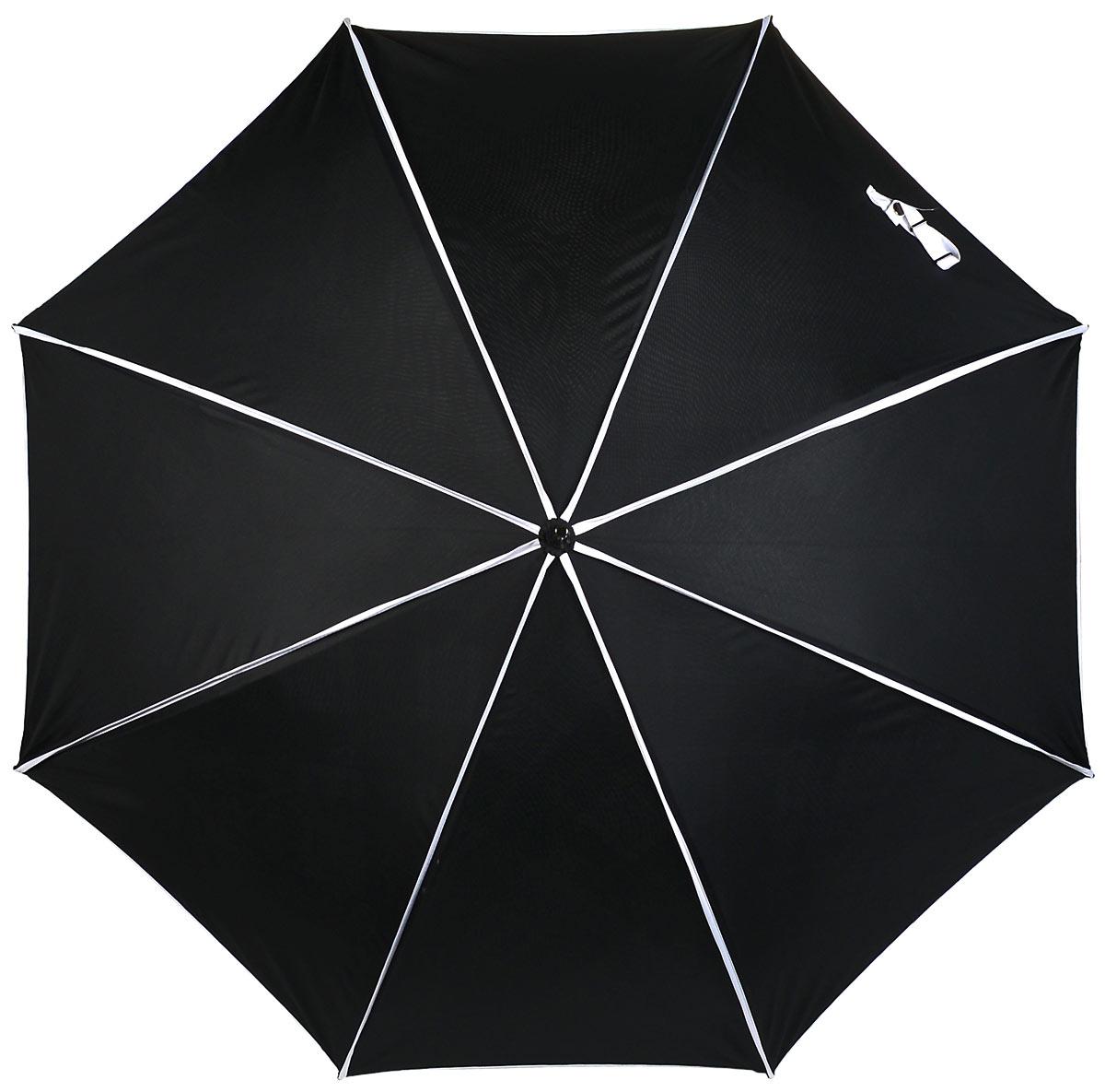 Зонт-трость женский Eleganzza, полуавтомат, цвет: черный, серый, белый. T-06-0279DT-06-0279DСтильный полуавтоматический женский зонт-трость Eleganzza выполнен из полиэстера и эпонжа. Модель с двойным куполом внутри оформлена цветочным принтом, снаружи кант контрастного оттенка. Каркас зонта выполнен из восьми стальных спиц с добавлением фибергласса. Зонт оснащен полуавтоматическим механизмом. Акриловая ручка разработана с учетом требований эргономики. Зонт Eleganzza защитит от дождя и поднимет настроение в ненастную погоду.