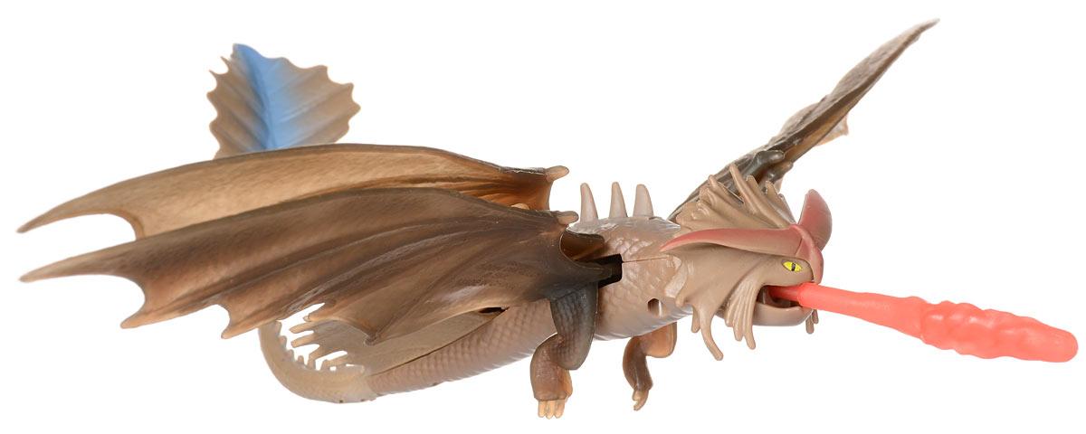 Dragons Фигурка Cloudjumper66550_20067246Фигурка Dragons Cloudjumper непременно придется по душе вашему ребенку. Игрушка выполнена в виде дракона Cloudjumper из популярного мультфильма Как приручить дракона. Крылья, голова и челюсть дракона подвижны. Дракон умеет стрелять огненным копьем, которое фиксируется у него во рту при помощи пружинного механизма. С драконом можно организовать настоящее сражение, ведь эти умелые бойцы снабжены всем необходимым для настоящей схватки с противником! Благодаря фигурке Dragons Cloudjumper ваш ребенок с удовольствием будет проигрывать любимые сцены из мультфильма или придумывать свои истории! В комплект входит: дракон, огненное копье.