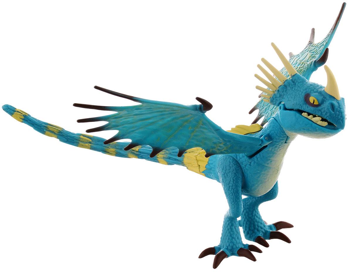 Dragons Фигурка Deadly Nadder66550_20071351Фигурка Dragons Deadly Nadder непременно придется по душе вашему ребенку. Игрушка выполнена в виде дракона Deadly Nadder из популярного мультфильма Как приручить дракона. Крылья, голова и челюсть дракона подвижны. На спине дракона расположена кнопка, при нажатии на которую дракон открывает рот, и его язык начинает светиться красным светом. С драконом можно организовать настоящее сражение, ведь эти умелые бойцы снабжены всем необходимым для настоящей схватки с противником! Благодаря фигурке Dragons Deadly Nadder ваш ребенок с удовольствием будет проигрывать любимые сцены из мультфильма или придумывать свои истории! Для работы игрушки необходимы 2 батарейки типа AG3 (товар комплектуется демонстрационными).