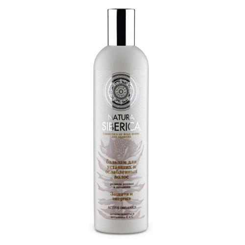 Бальзам Natura Siberica Защита и энергия, для уставших и ослабленных волос, 400 мл