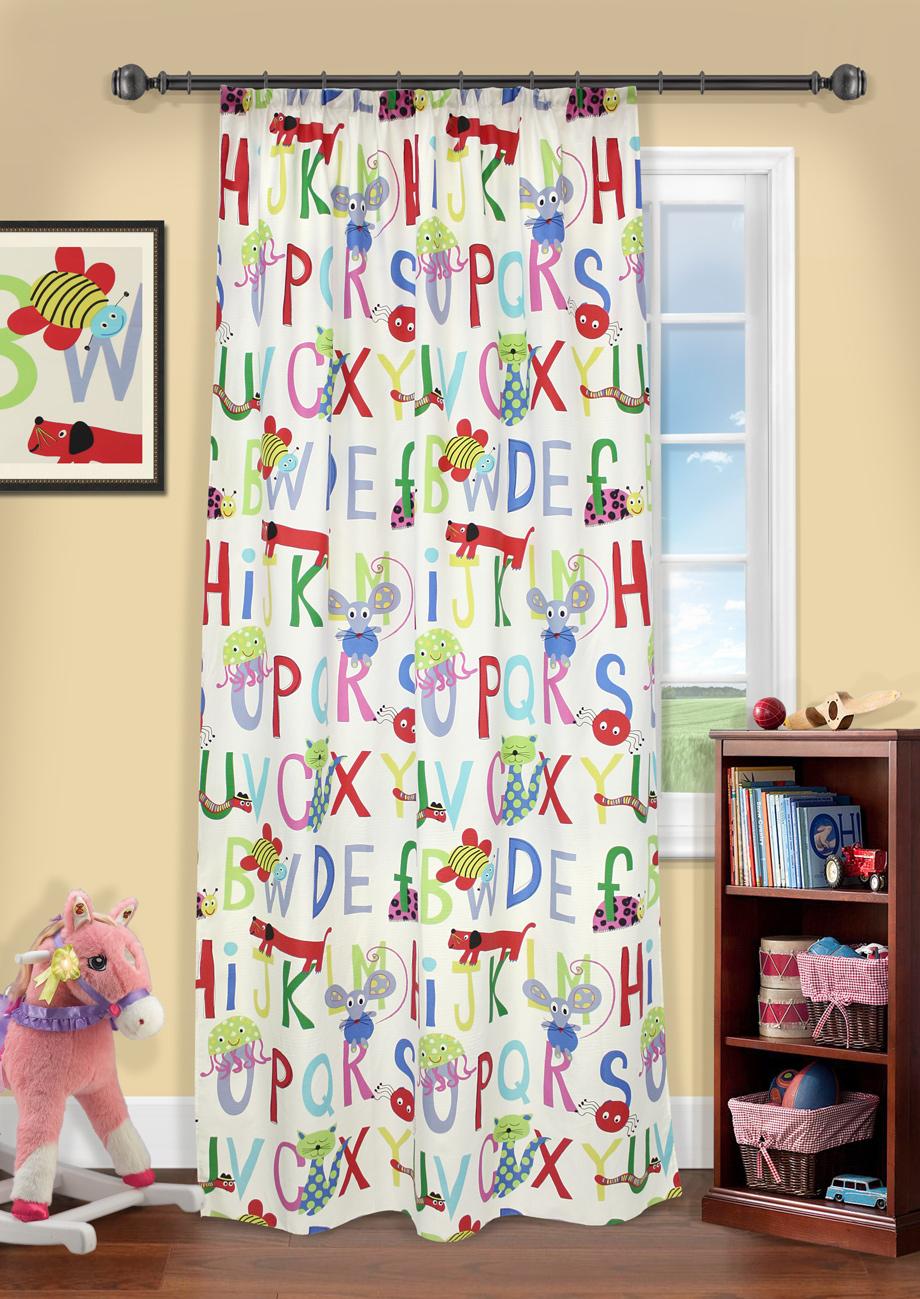 Штора на шторной ленте, Алфавит, 140х280см, UN111598640UN111598640Штора на шторной ленте для детской. Дизайн буквы 140*287
