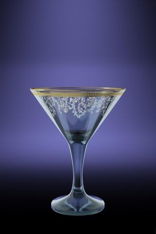Набор 6 бокалов для мартини с рисунком Каскад 170 млTL40-410Набор 6 бокалов для мартини с рисунком Каскад 170 мл