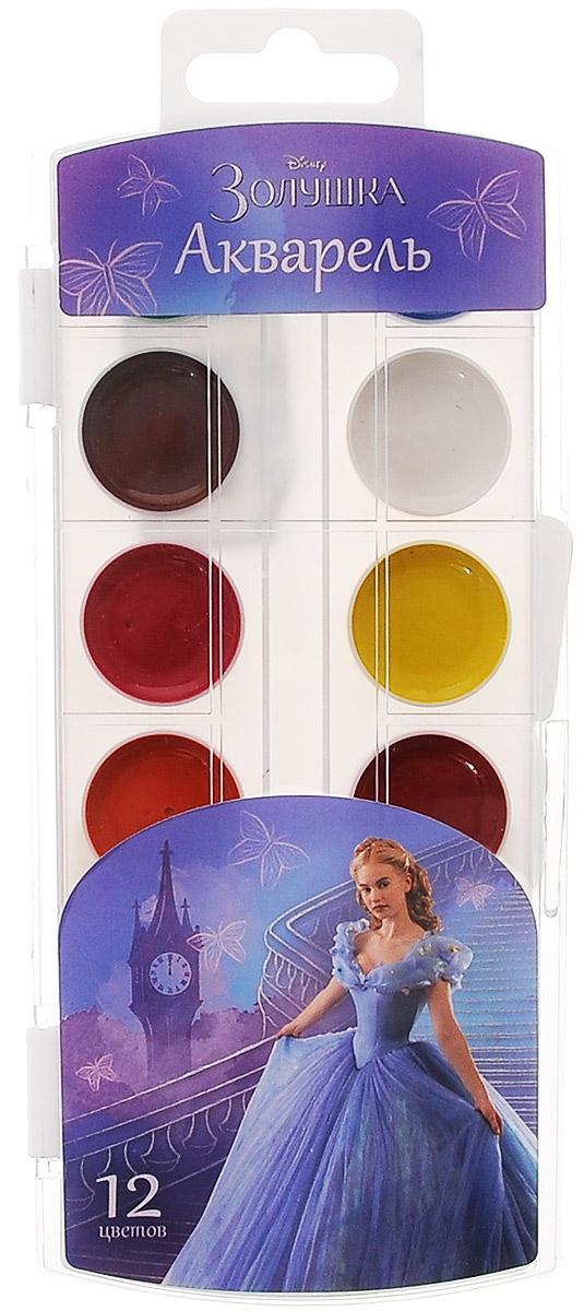 Disney Акварель Золушка, 12 цветов26775Акварель Disney Золушка идеально подойдет для детского художественного творчества, изобразительных и оформительских работ. Краски хорошо размываются водой, легко наносятся на поверхность, быстро сохнут, безопасны при использовании по назначению. В процессе рисования у детей развивается наглядно-образное мышление, воображение, мелкая моторика рук, творческие и художественные способности, вырабатывается усидчивость и аккуратность. В набор входят краски 12 ярких насыщенных цветов.