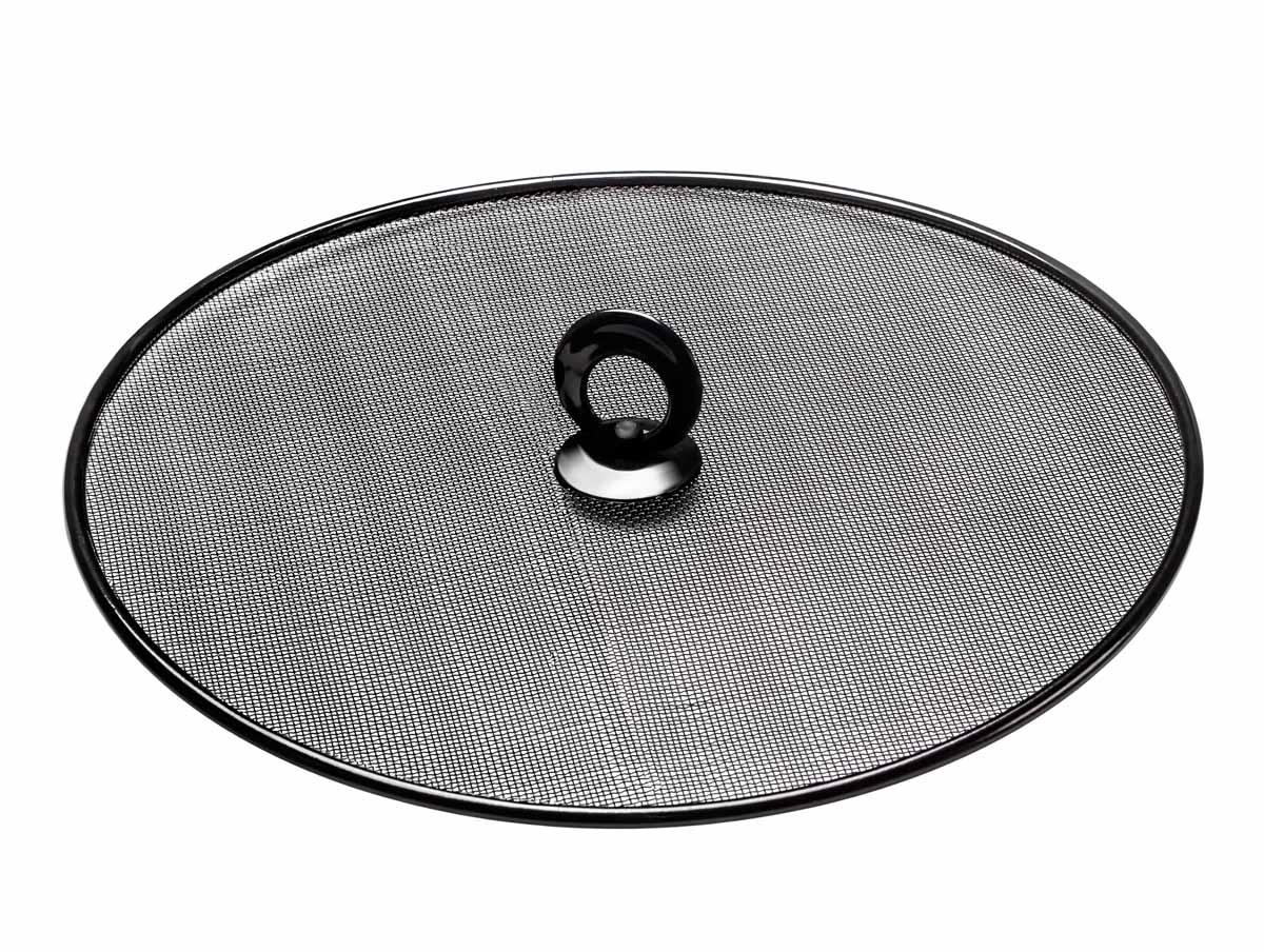 Брызгогаситель Идея Накрывашка, цвет: черный, диаметр 28,5 смNKV-01Брызгогаситель Идея Накрывашка предназначен для предотвращения разбрызгивания блюд во время приготовления. Изделие станет настоящим помощником для любой хозяйки. Не рекомендуется мыть в подумоечной машине. Диаметр крышки: 28,5 см.
