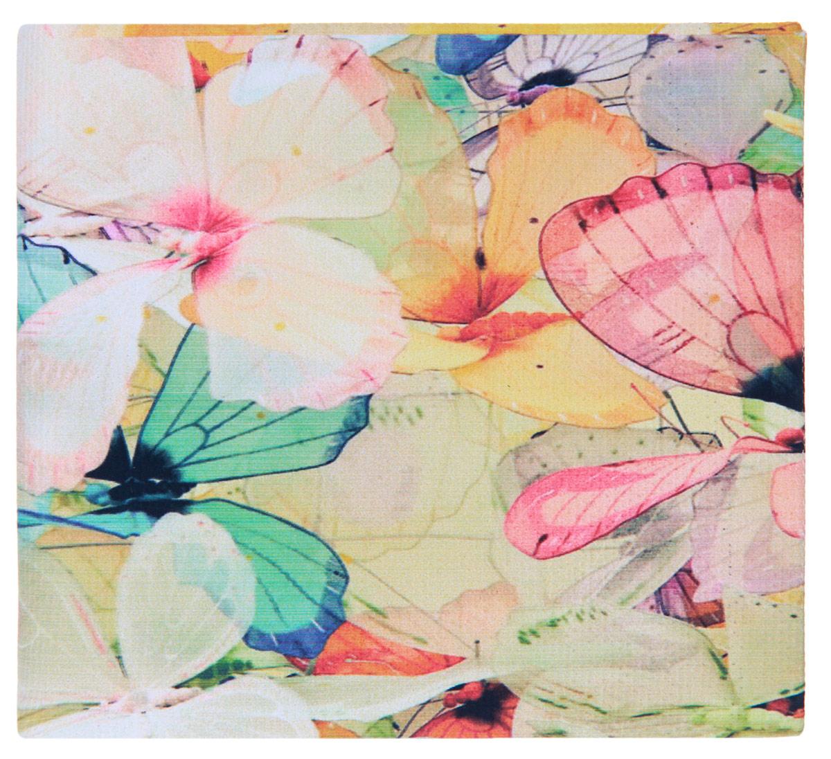 Кошелек Цветные бабочки. KZAM040KZAM040Авторский, неповторимый кошелек от Mitya Veselkov Цветные бабочки выполнен из синтетического материала и оформлен изображением бабочек. Кошелек раскладывается пополам и содержит отделение для купюр и два врезных кармана для кредитных карт или визиток. Стильный кошелек Mitya Veselkov Цветные бабочки станет отличным подарком для творческого человека.