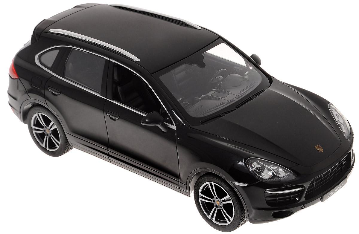 Rastar Радиоуправляемая модель Porsche Cayenne Turbo цвет черный масштаб 1:1442900_черныйВсе дети хотят иметь в наборе своих игрушек ослепительные, невероятные и крутые автомобили на радиоуправлении. Тем более если это автомобиль известной марки с проработкой всех деталей, удивляющий приятным качеством и видом. Одной из таких моделей является автомобиль на радиоуправлении Porsche Cayenne Turbo. Это точная копия настоящего авто в масштабе 1:14. Авто обладает неповторимым провокационным стилем и спортивным характером. А серьезные габариты придают реалистичность в управлении. Автомобиль отличается потрясающей маневренностью, динамикой и покладистостью. Для работы автомобиля требуются 5 батареек типа АА (в комплект не входят). Для работы пульта требуются 1 батарейка 9V (в комплект не входит).