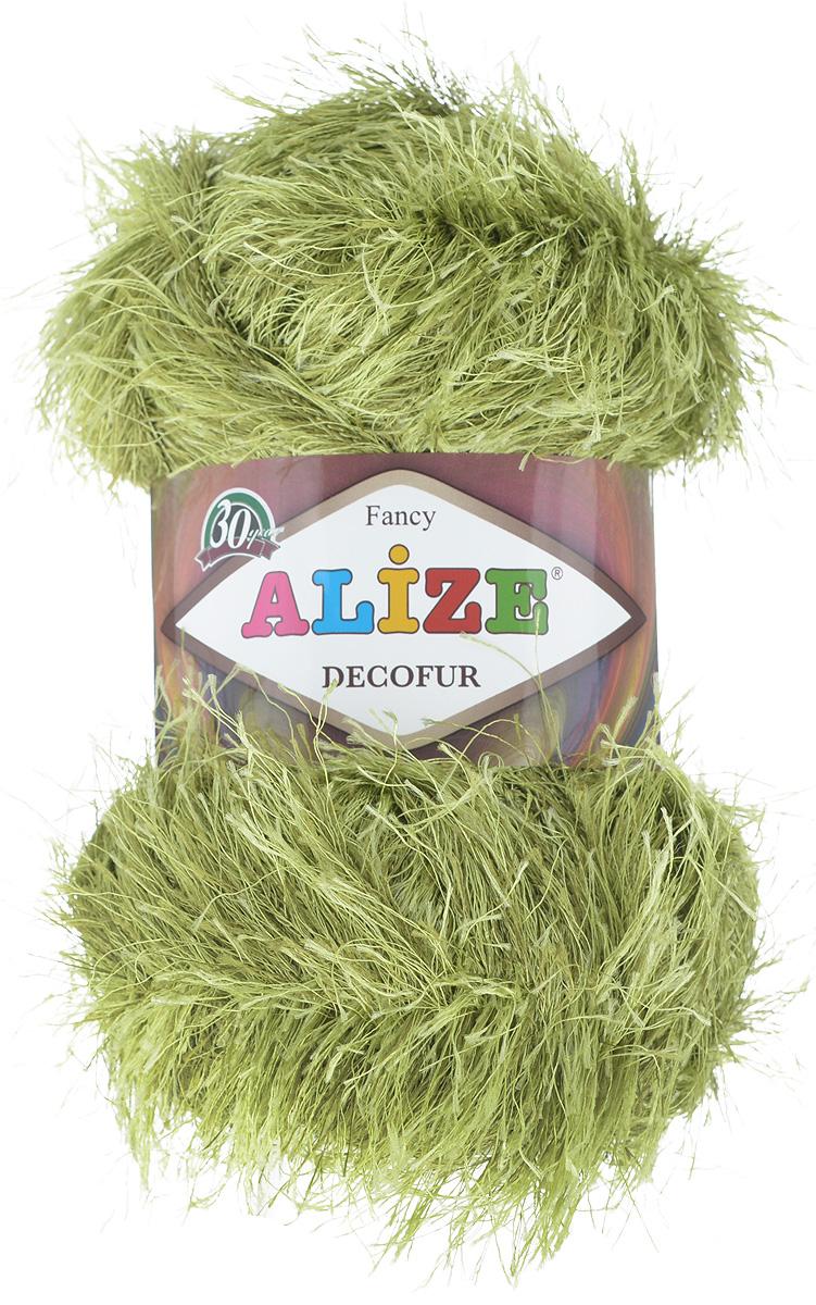 Пряжа для вязания Alize Decofur, цвет: зеленый (1369), 110 м, 100 г, 5 шт364128_1369Пряжа для вязания Alize Decofur изготовлена из полиэстера. Пряжа-травка предназначена для ручного вязания и идеально подходит для отделки. Готовый ворс получается равным 4 см. Рекомендованные спицы для вязания 6-8 мм. Рекомендованный крючок для вязания 3-4 мм. Комплектация: 5 мотков. Состав: 100% полиэстер.