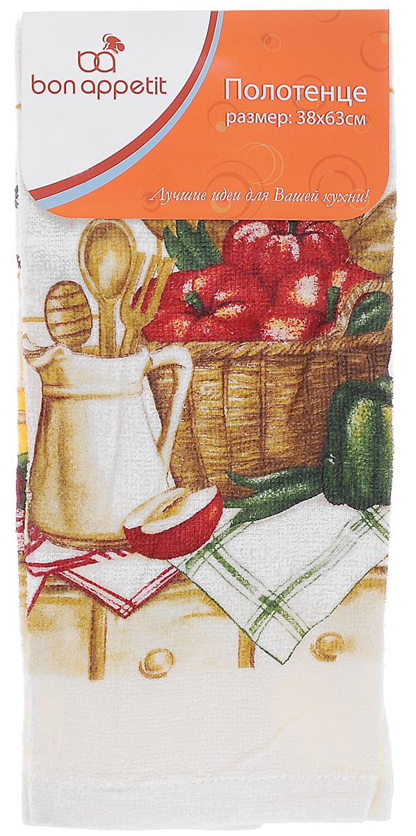 Полотенце кухонное Bon Appetit Завтрак, цвет: молочный, зеленый, красный, 63 х 38 см64170Полотенце кухонное Bon Appetit Завтрак изготовлено из 100% хлопка, поэтому является экологически чистыми. Качество материала гарантирует безопасность не только взрослых, но и самых маленьких членов семьи. Изделие украшено оригинальным и ярким рисунком, оно впишется в интерьер любой кухни. Кухонные полотенца Bon Appetit идеально дополнят интерьер вашей кухни и создадут атмосферу уюта и комфорта. Размер полотенца: 63 см х 38 см.