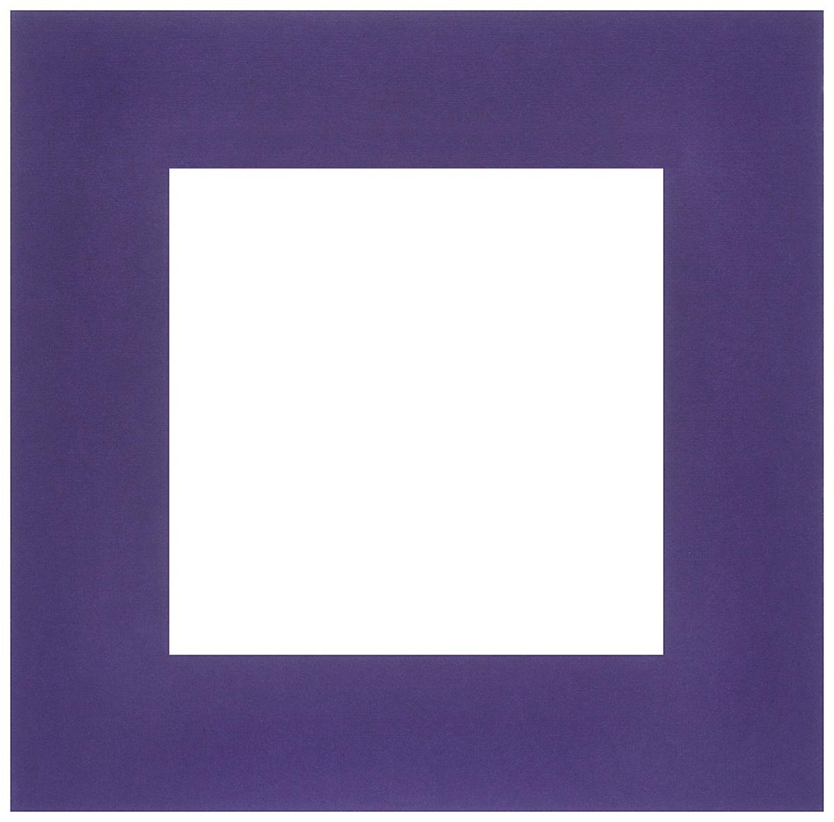 Паспарту Василиса, цвет: фиолетовый, 20 см х 20см549562Паспарту Василиса, изготовленное из плотного картона, предназначено для оформления художественных работ и фотографий. Оно располагается между багетной рамой и изображением, делая акцент на фотографии, усиливая ее визуальное восприятие. Кроме того, на паспарту часто располагают поясняющие подписи, автограф изображенного. Внешний размер: 20 см х 20 см. Внутренний размер: 12 см х 12 см.