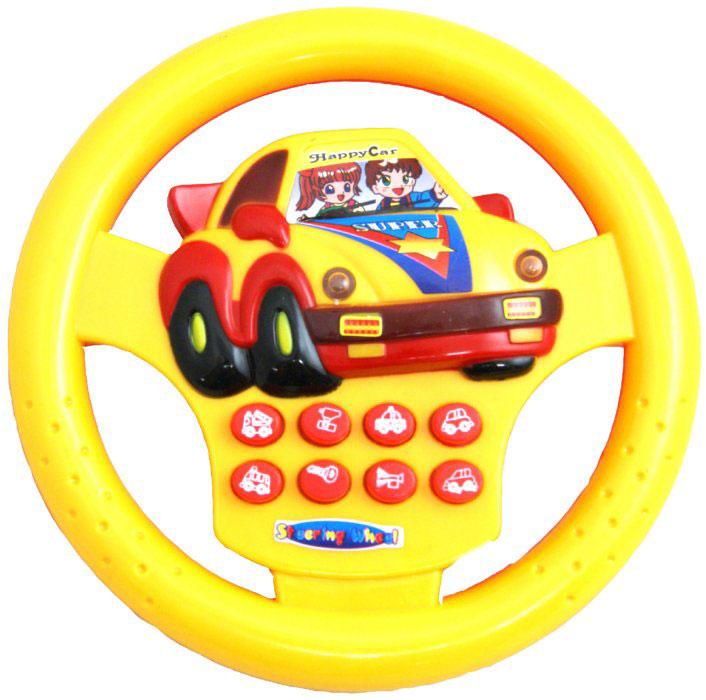 Junfa Toys Развивающая игрушка Руль со световыми и звуковыми эффектами цвет голубой ( 748C_голубой )