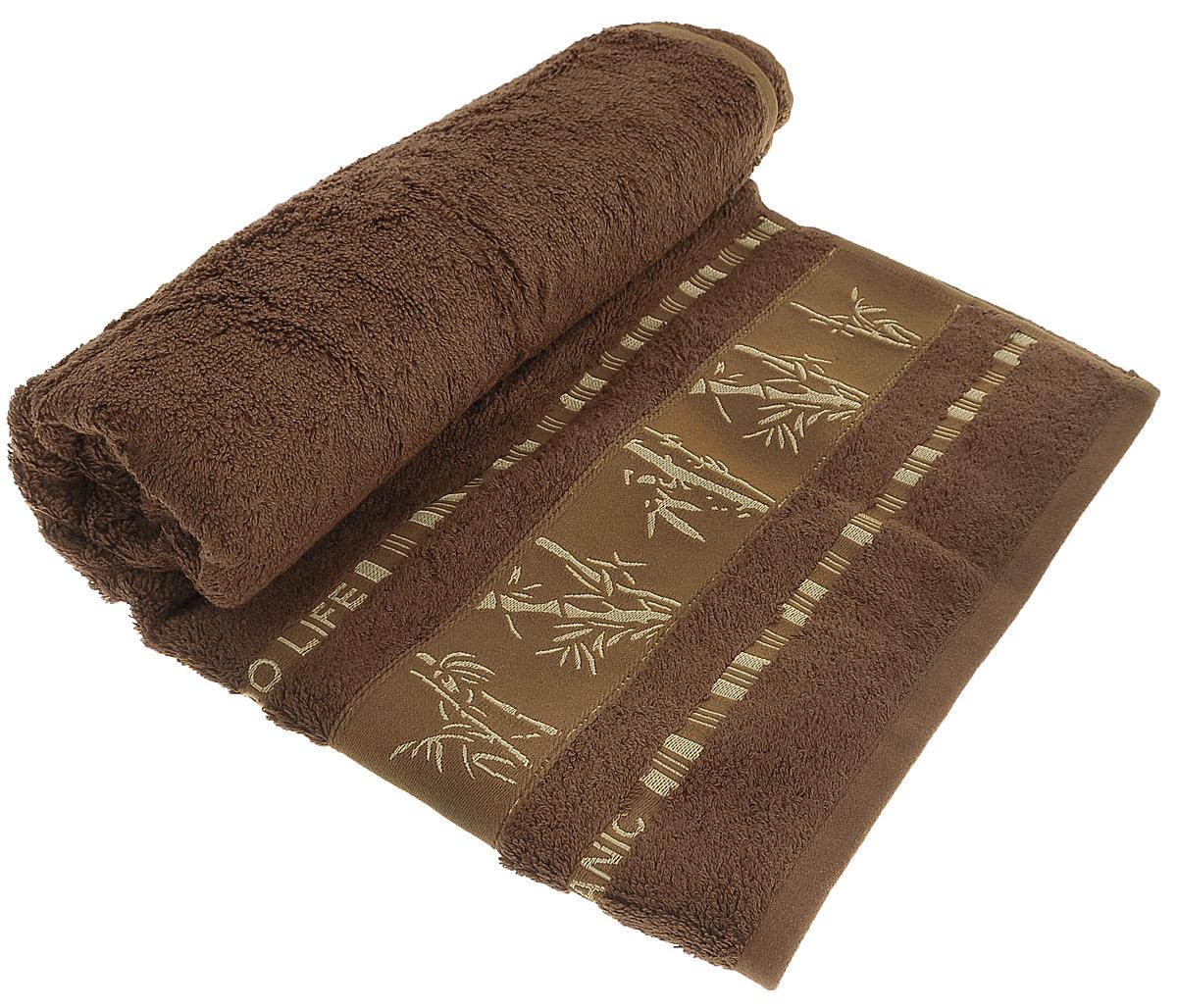 Полотенце Mariposa Bamboo, цвет: коричневый, 70 х 140 см62348Полотенце Mariposa Bamboo, изготовленное из 60% бамбука и 40% хлопка, подарит массу положительных эмоций и приятных ощущений. Полотенца из бамбука только издали похожи на обычные. На самом деле, при первом же прикосновении вы ощутите невероятную мягкость и шелковистость. Таким полотенцем не нужно вытираться - только коснитесь кожи - и ткань сама все впитает! Несмотря на богатую плотность и высокую петлю полотенца, оно быстро сохнет, остается легким даже при намокании. Полотенце оформлено изображением бамбука. Благородный тон создает уют и подчеркивает лучшие качества махровой ткани. Полотенце Mariposa Bamboo станет достойным выбором для вас и приятным подарком для ваших близких.