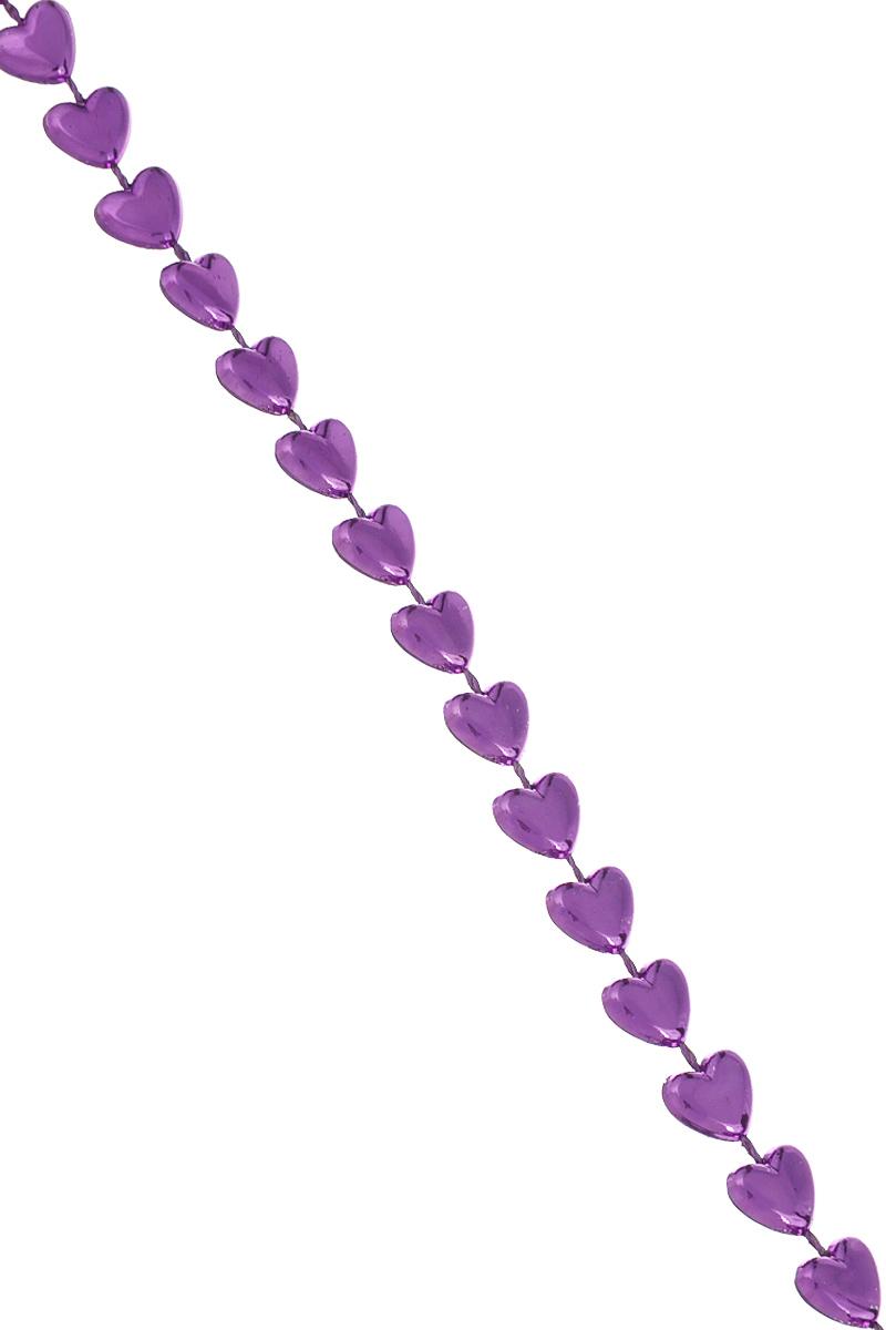 Новогодняя гирлянда Lunten Ranta Сердечки, цвет: фиолетовый, длина 2 м65567Новогодняя гирлянда Lunten Ranta Сердечки отлично подойдет для декорации вашего дома и новогодней ели. Изделие, выполненное из пластика, представляет собой гирлянду, на текстильной нити, на которой нанизаны бусины в виде сердец. Новогодние украшения несут в себе волшебство и красоту праздника. Они помогут вам украсить дом к предстоящим праздникам и оживить интерьер по вашему вкусу. Создайте в доме атмосферу тепла, веселья и радости, украшая его всей семьей. Размер бусин: 0,8 см х 0,8 см х 0,3 см.