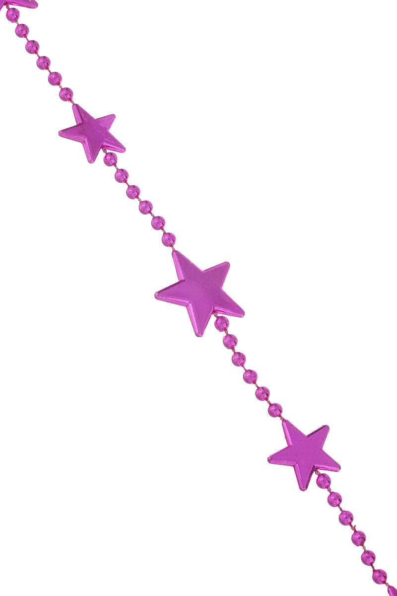 Новогодняя гирлянда Lunten Ranta Цепочка из звезд, цвет: фуксия, длина 2 м65616Новогодняя гирлянда Lunten Ranta Цепочка из звезд отлично подойдет для декорации вашего дома и новогодней ели. Изделие, выполненное из пластика, представляет собой гирлянду, на текстильной нити, на которой нанизаны фигурки в виде звезд. Новогодние украшения несут в себе волшебство и красоту праздника. Они помогут вам украсить дом к предстоящим праздникам и оживить интерьер по вашему вкусу. Создайте в доме атмосферу тепла, веселья и радости, украшая его всей семьей. Размер фигурки: 2 см х 2 см х 0,3 см.