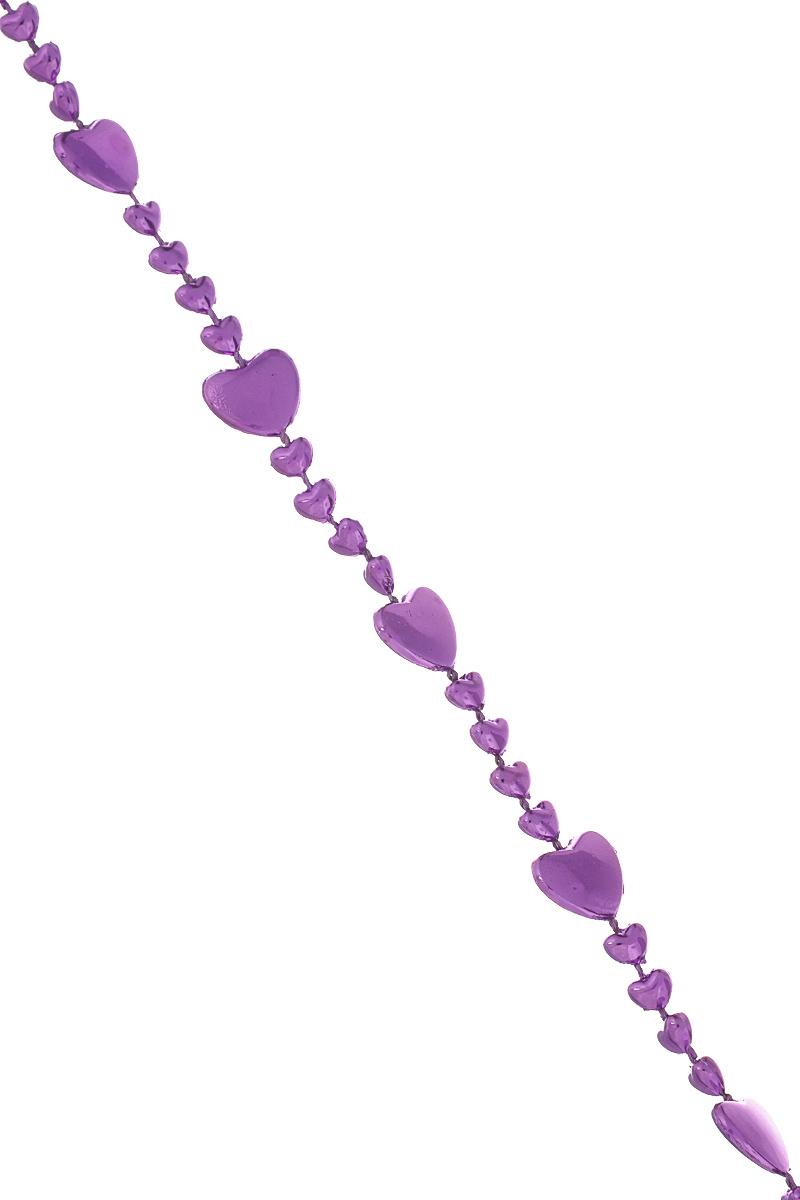 Новогодняя гирлянда Lunten Ranta Гармония, цвет: фиолетовый, длина 2 м65609Новогодняя гирлянда Lunten Ranta Гармония отлично подойдет для декорации вашего дома и новогодней ели. Изделие, выполненное из пластика, представляет собой гирлянду, на текстильной нити, на которой нанизаны бусины в виде сердец. Новогодние украшения несут в себе волшебство и красоту праздника. Они помогут вам украсить дом к предстоящим праздникам и оживить интерьер по вашему вкусу. Создайте в доме атмосферу тепла, веселья и радости, украшая его всей семьей. Размер бусин: 1,2 см х 0,8 см х 0,1 см; 0,5 см х 0,3 см х 0,1 см.
