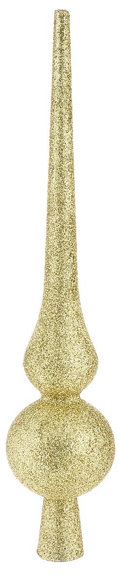 Верхушка на елку Lunten Ranta Сверкающая пика, цвет: золотистый, высота 29,5 см65474Верхушка на елку Lunten Ranta Сверкающая пика прекрасно подойдет для декора новогодней елки. Изделие выполнено из пластика и декорировано блестками. Верхушка преобразит вашу елочку в преддверии праздника и создаст особое настроение новогоднего торжества. Изящество линий, уникальный дизайн - эта верхушка совершенно не похожа на классические новогодние украшения. Размер верхушки: 6 см х 6 см х 29,5 см.