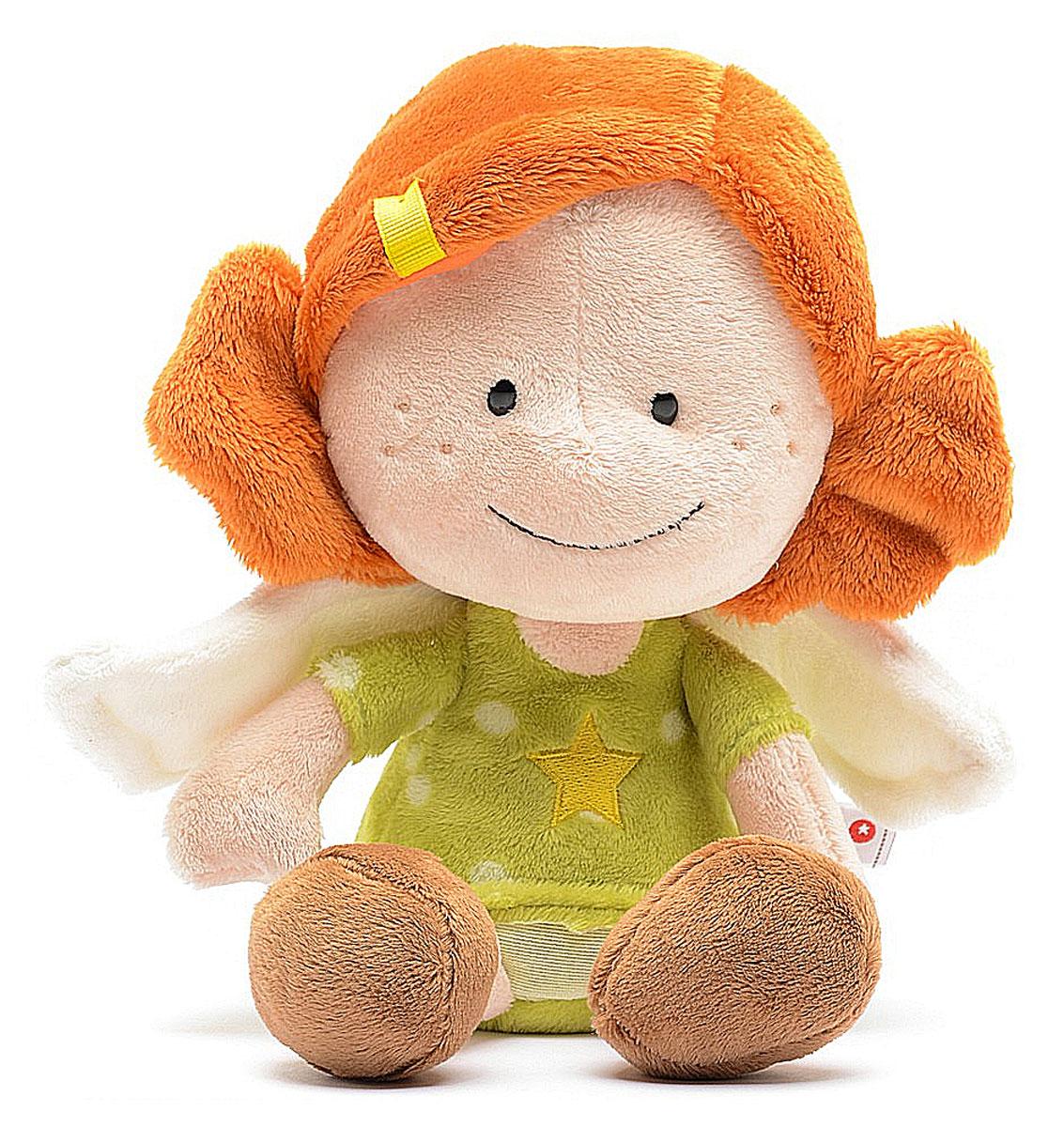 Nici Мягкая игрушка Ангел-хранитель цвет зеленый 26 см37336Мягкая игрушка в виде симпатичной плюшевой девочки-ангелочка с белыми крылышками. Суеверие, предрассудки - скажут прагматики и скептики. А мы говорим, что это работает. Мы, маленькие симпатичные ангелы-хранители, обладаем способностью защищать своих друзей, главное, быть всегда рядом. Вы только поверьте в нас! Яркая и красивая игрушка, безусловно, заинтересуют вашего ребенка и станет гарантией милой искренней улыбки, восторга и отличного настроения у вашего малыша. А ведь помимо этого с ней можно придумать столько забавных игр, или же создать ей новый образ. Удивительно мягкая игрушка принесет радость и подарит своему обладателю мгновения нежных объятий и приятных воспоминаний.