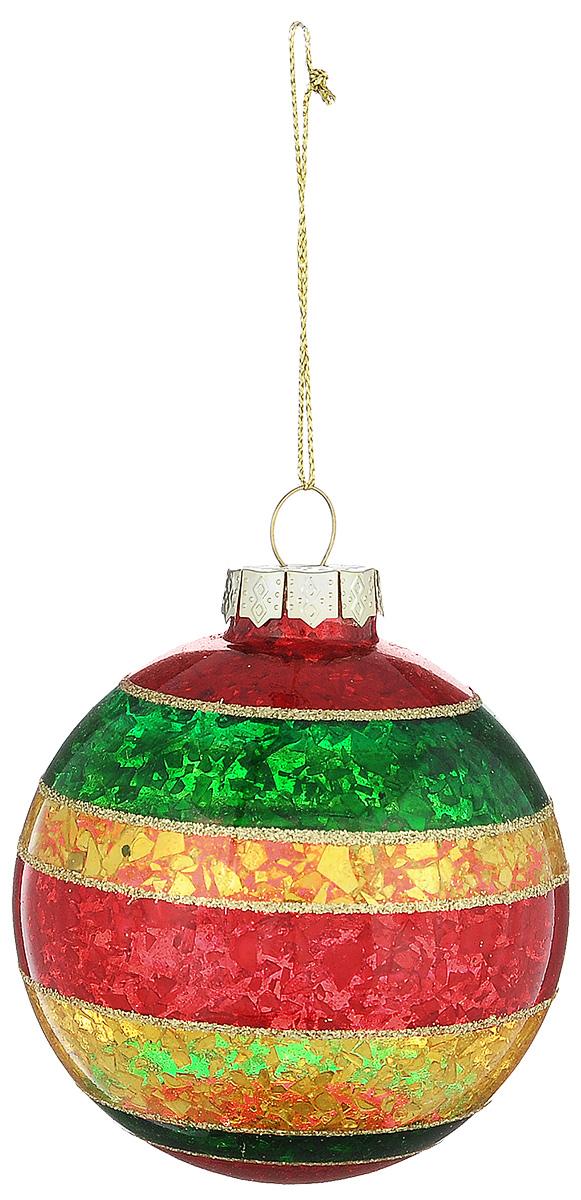 Новогоднее подвесное украшение Its a Happy Day Шар. Блеск, цвет: красный, желтый, зеленый, диаметр 8 см66488Новогоднее подвесное украшение Its a Happy Day Шар. Блеск выполнено из высококачественного стекла в форме шара и оформлено блестками. С помощью специальной петельки украшение можно повесить в любом понравившемся вам месте. Но, конечно, удачнее всего оно будет смотреться на праздничной елке. Елочная игрушка - символ Нового года. Она несет в себе волшебство и красоту праздника. Создайте в своем доме атмосферу веселья и радости, украшая новогоднюю елку нарядными игрушками, которые будут из года в год накапливать теплоту воспоминаний.