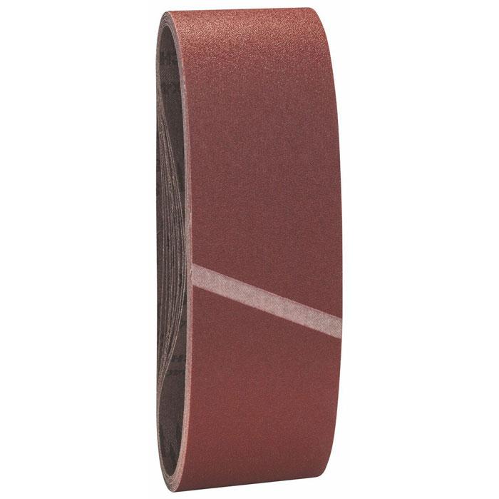 Лента шлифовальная Bosch, 100 мм х 610 мм, зерно 40, 10 шт2608606134Эти ленты используют для работы по дереву любого вида, ДСП, строительным панелям, и даже по металлу. Благодаря высокому качеству соединения шлифленты производится высококачественная обработка материалов, а антистатическая структура препятствует оседанию пыли. Производительность съема такой оснасткой высокая и отличное качество обрабатываемой поверхности. Ленты подходят Bosch; Hitachi; Holz-Her; Makita; Ryobi; Wegoma.