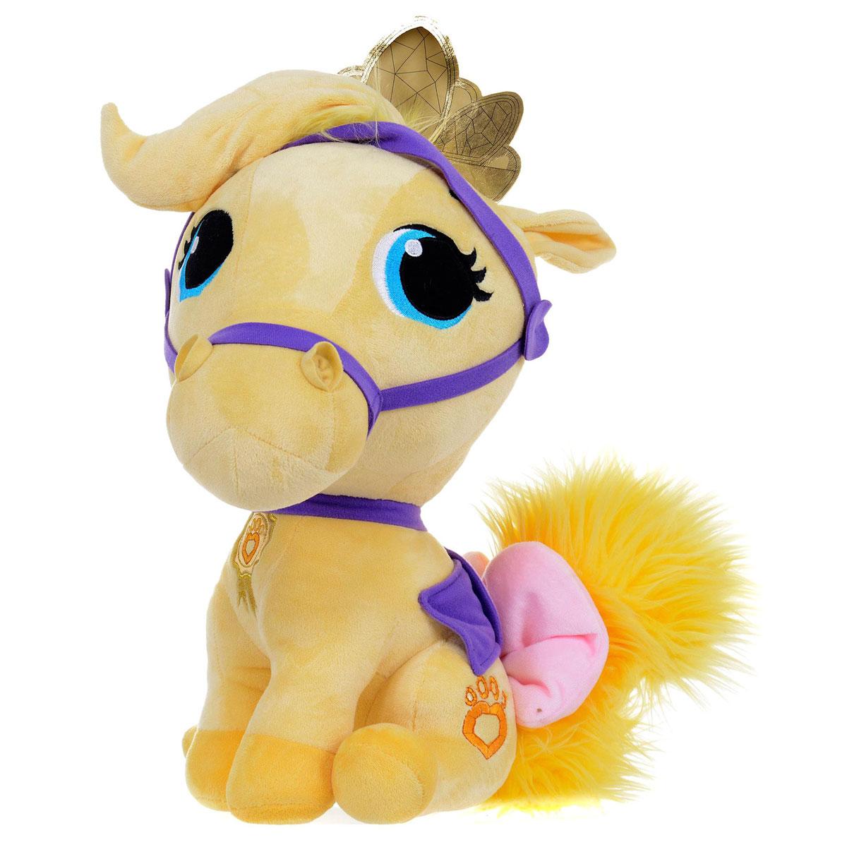 Palace Pets Мягкая игрушка Питомец Рапунцель пони Красотка цвет желтый 15 смPDP1300542Играйте вместе с домашним питомцем принцессы Рапунцель - пони Красоткой из серии Принцессы Дисней (Disney Princess)! Пони очень мягкий на ощупь, с пушистым хвостиком и огромными вышитыми глазками. На голове у Красотки мягкая золотая с блестками корона. Palace Pets - это коллекция домашних зверушек принцесс Диснея, которые живут вместе со своими хозяйками в их шикарных дворцах.