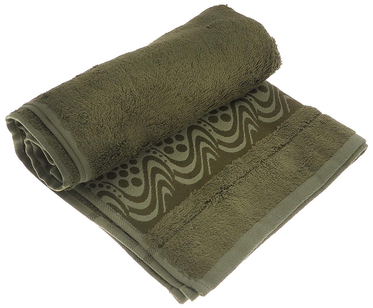 Полотенце Mariposa Aqua, цвет: темно-зеленый, 50 х 90 см62417Полотенце Mariposa Aqua, изготовленное из 60% бамбука и 40% хлопка, подарит массу положительных эмоций и приятных ощущений. Полотенца из бамбука только издали похожи на обычные. На самом деле, при первом же прикосновении вы ощутите невероятную мягкость и шелковистость. Таким полотенцем не нужно вытираться - только коснитесь кожи - и ткань сама все впитает! Несмотря на богатую плотность и высокую петлю полотенца, оно быстро сохнет, остается легким даже при намокании. Полотенце оформлено волнистым рисунком. Благородный тон создает уют и подчеркивает лучшие качества махровой ткани. Полотенце Mariposa Aqua станет достойным выбором для вас и приятным подарком для ваших близких.