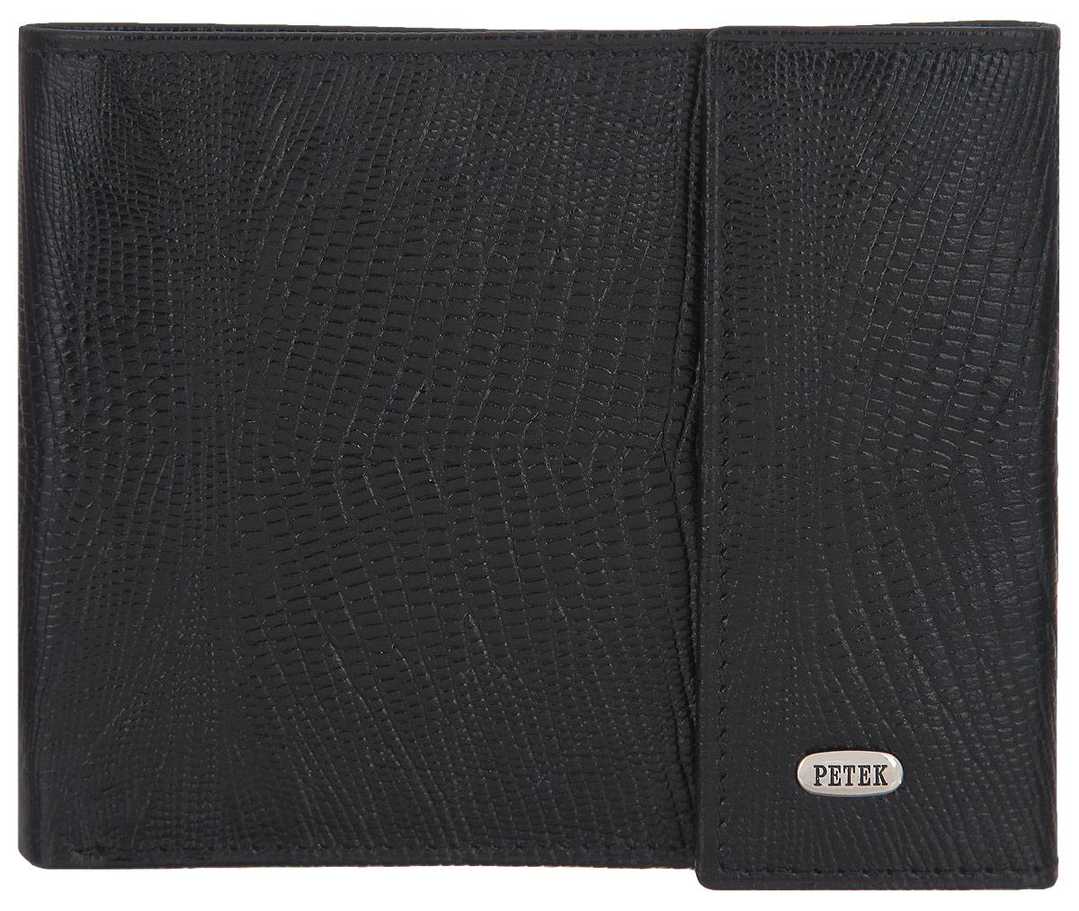 Портмоне мужское Petek 1855, цвет: черный. 291.041.01 291.041.01 Black