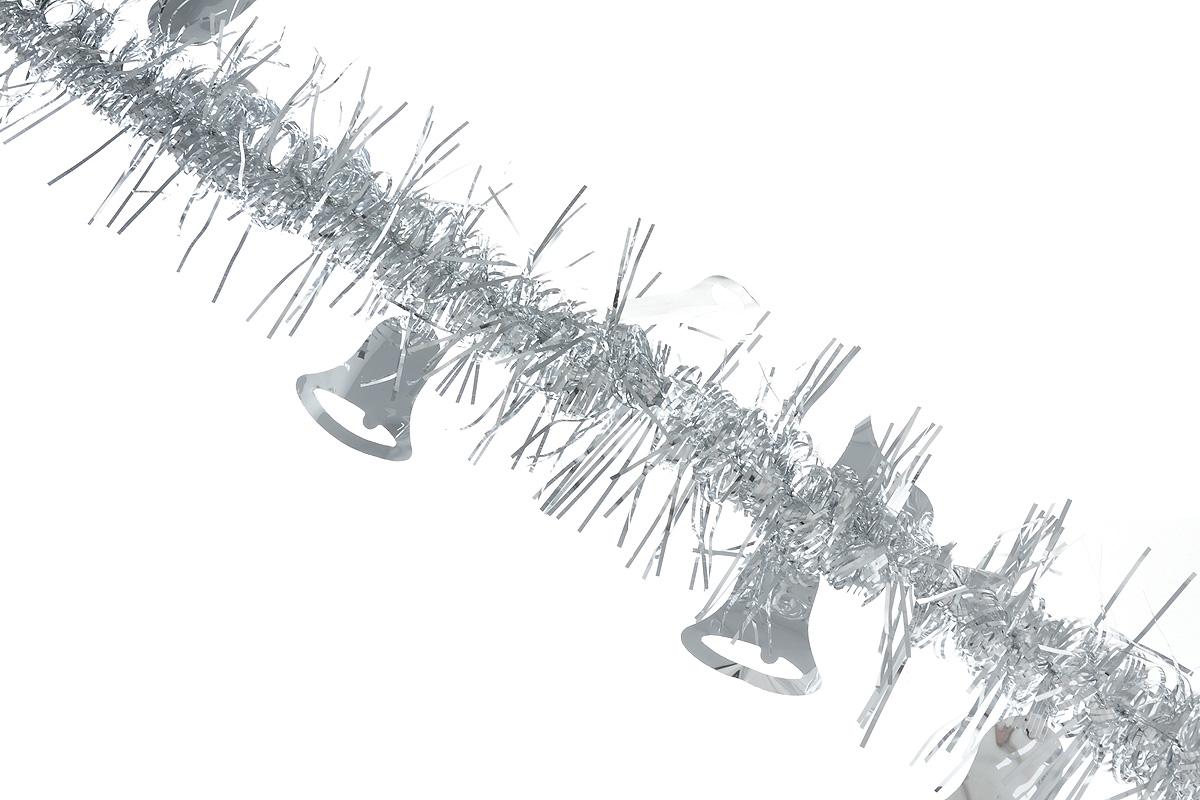 Мишура новогодняя Sima-land, цвет: серебристый, диаметр 2 см, длина 200 см. 706455706455_серебристыйНовогодняя мишура Sima-land, выполненная из фольги, поможет вам украсить свой дом к предстоящим праздникам. Мишура армирована, то есть имеет проволоку внутри и способна сохранять приданную ей форму. По всей длине изделие украшено фигурками из фольги в виде колокольчиков. Новогодней мишурой можно украсить все, что угодно - елку, квартиру, дачу, офис - как внутри, так и снаружи. Можно сложить новогодние поздравления, буквы и цифры, мишурой можно украсить и дополнить гирлянды, можно выделить дверные колонны, оплести дверные проемы.