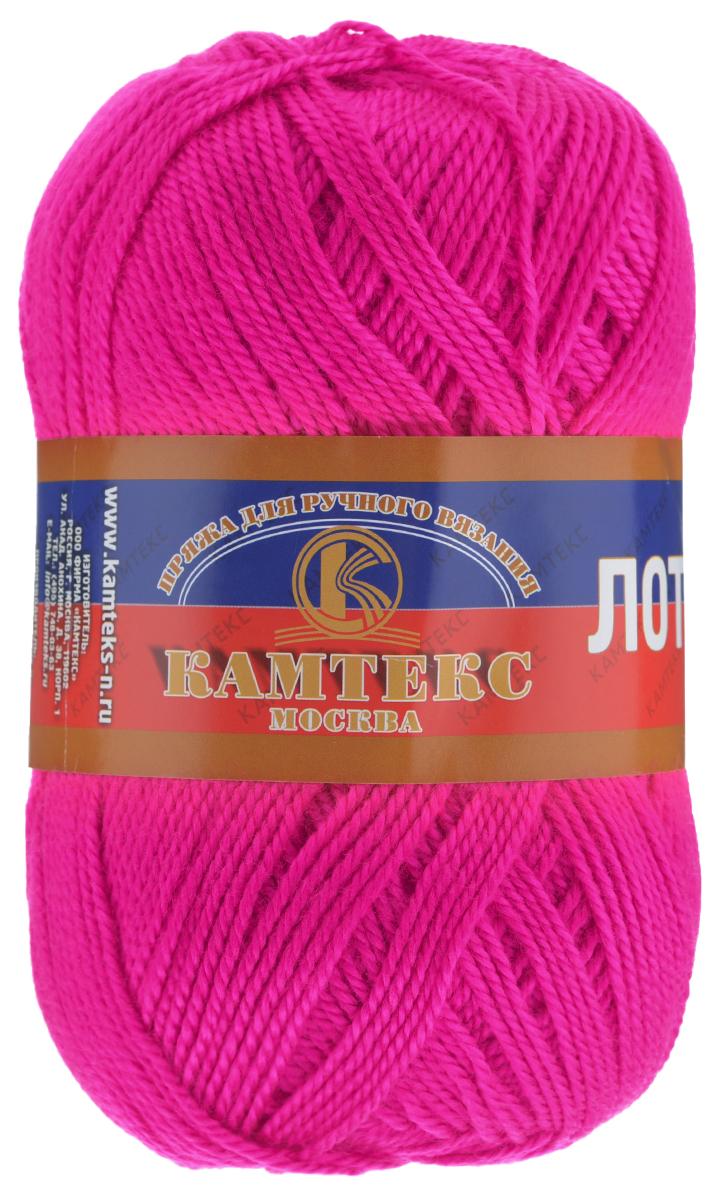 Пряжа для вязания Камтекс Лотос, цвет: розовый неон (224), 300 м, 100 г, 10 шт136083_224Пряжа для вязания Камтекс Лотос изготовлена из 100% акрила. Пряжа имеет приятную мягкость, вяжется очень легко, совершенно не путаясь. По своим свойствам акриловая нить близка к шерсти. Только в отличие от шерсти, она приятна для тела, совсем не колется, не раздражает кожу, подходит даже для детей. Существует вероятность, что изделие может слегка растянуться, но этого можно избежать деликатным обращением и плотной вязкой. Пряжа Лотос подходит для вязания и крючками, и спицами, хорошо получаются любые виды узоров. Идеальный вариант для вязания демисезонных головных уборов, жакетов, свитеров, болеро, детской одежды. Пряжа имеет приятный благородный блеск. Богатая цветовая палитра - смелые и насыщенные оттенки. Рекомендуемый размер крючка и спиц: №3-5 мм. Состав: 100% акрил. Комплектация: 10 мотков. Толщина нити: 1,5 мм.