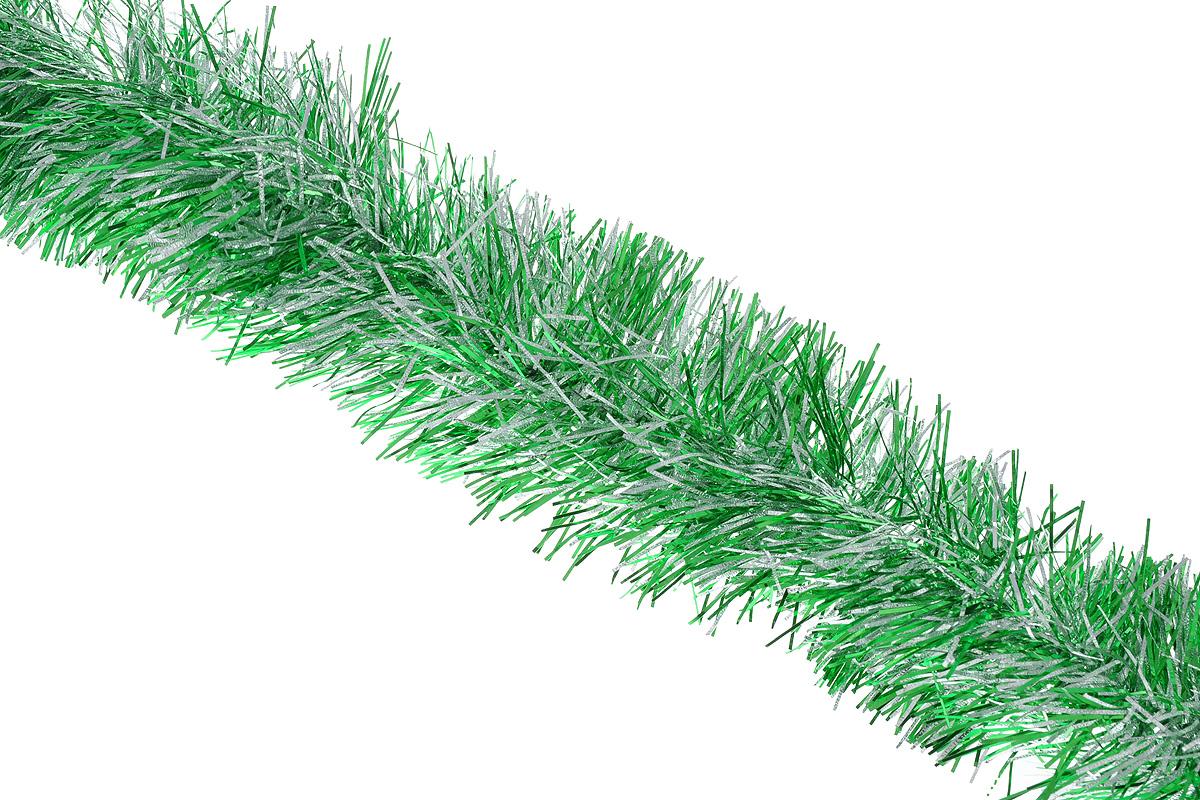 Мишура новогодняя Sima-land, цвет: серебристый, зеленый, диаметр 10 см, длина 200 см. 702586702586_серебристый, зеленыйМишура новогодняя Sima-land, выполненная из двухцветной фольги, поможет вам украсить свой дом к предстоящим праздникам. Мишура армирована, то есть имеет проволоку внутри и способна сохранять приданную ей форму. Новогодняя елка с таким украшением станет еще наряднее. Новогодней мишурой можно украсить все, что угодно - елку, квартиру, дачу, офис - как внутри, так и снаружи. Можно сложить новогодние поздравления, буквы и цифры, мишурой можно украсить и дополнить гирлянды, можно выделить дверные колонны, оплести дверные проемы. Коллекция декоративных украшений из серии Зимнее волшебство принесет в ваш дом ни с чем несравнимое ощущение праздника! Создайте в своем доме атмосферу тепла, веселья и радости, украшая его всей семьей.