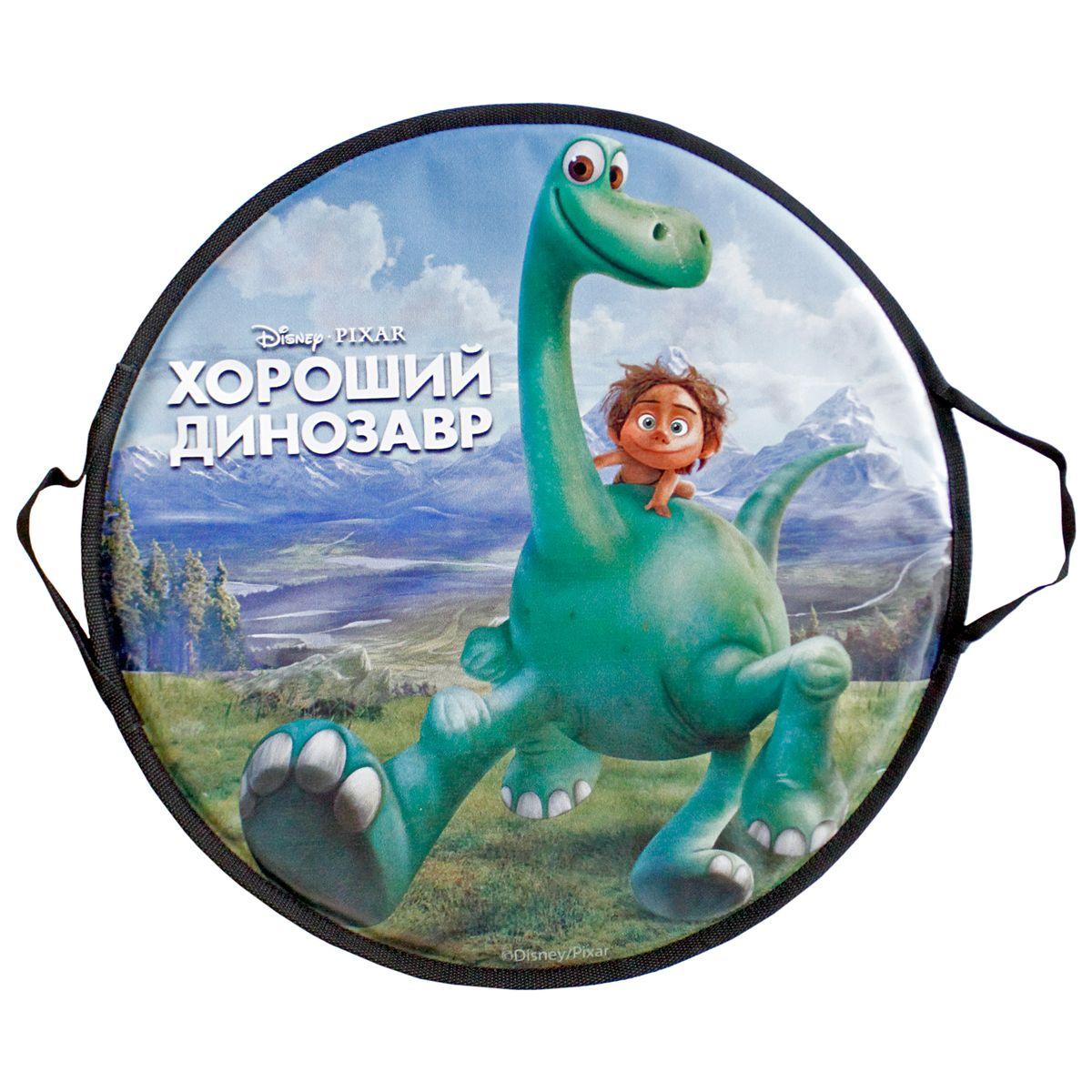 Ледянка круглая 52см, Disney Добропорядочный динозаврТ58168Ледянка Disney Добропорядочный динозавр станет прекрасным подарком. Изделие предназначено катания с горок и идеально подойдет как для мальчиков, так и для девочек. Ледянка развивает на спуске хорошую скорость. Плотные ручки, расположенные по краям изделия помогут не упасть.
