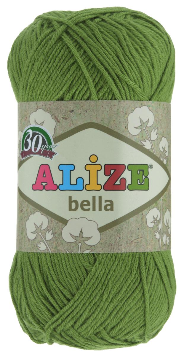 Пряжа для вязания Alize Bella, цвет: зеленый (492), 180 м, 50 г, 5 шт364124_492Мягкая хлопковая пряжа Alize Bella просто идеальна для вязания вещей малышам и людям с чувствительной кожей. Нить не вызывает аллергии и очень приятна на ощупь. Изделия из такой нити получаются мягкие и красивые. Рекомендуемый размер спиц 2-4 мм и крючка 1-3 мм.