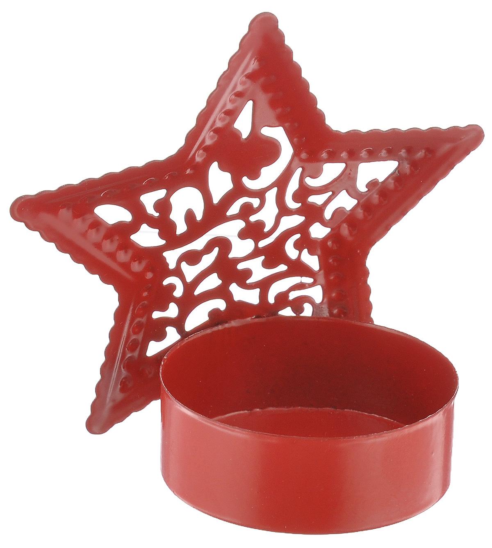 Подсвечник декоративный Феникс-презент Звезда, цвет: красный35315Декоративный подсвечник Феникс-презент Звезда изготовлен из черного металла в виде звезды. Внутрь подсвечника вставляется одна чайная свеча. Оригинальный и изысканный, такой подсвечник позволит украсить интерьер дома или рабочего кабинета оригинальным образом. Вы можете поставить подсвечник в любом месте, где он будет удачно смотреться и радовать глаз. Кроме того - это отличный вариант подарка для ваших близких и друзей. Диаметр отверстия для свечи: 4 см.