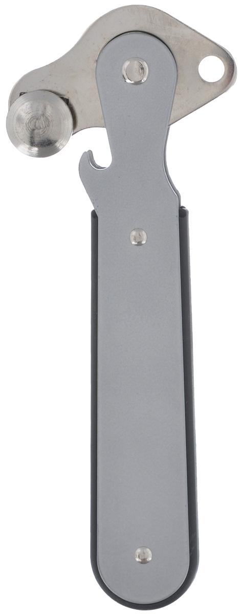 Нож консервный Gefu, цвет: серый, длина 15 см12420_серыйКонсервный нож Gefu, выполненный из нержавеющей стали и пластика, станет полезным приобретением для любой хозяйки, так как с помощью него можно без труда и аккуратно вскрыть любые консервные банки. Благодаря конструкции из колесиков, вскрытая банка имеет ровные края, что обезопасит вас и домочадцев от порезов. Эргономичная ручка удобно ложится в руке, не скользит и не выскальзывает. Лезвия из нержавеющей стали намного лучше керамических, потому что они более прочные, долговечные.