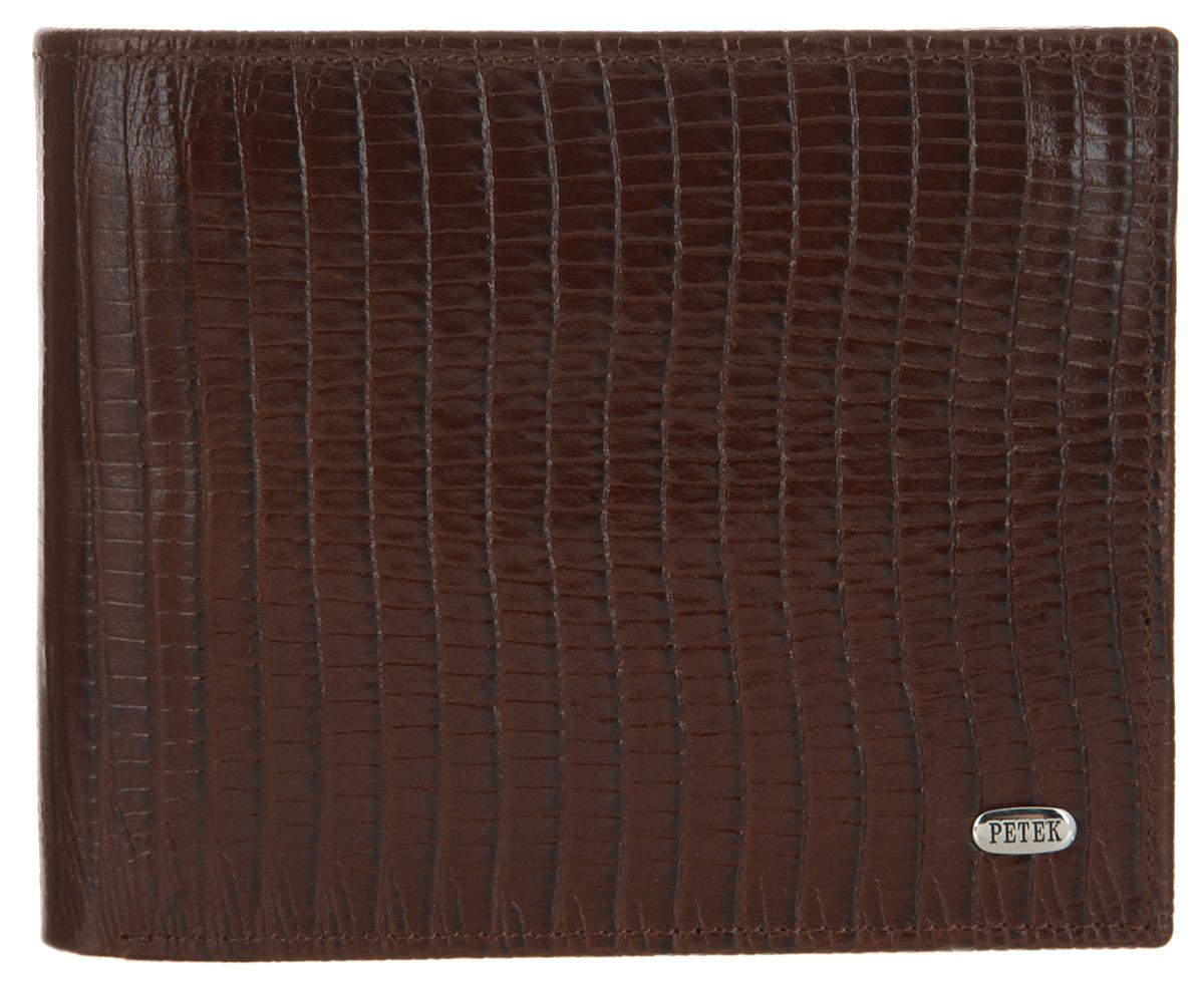 Портмоне мужское Petek 1855, цвет: коричневый. 114.041.02 114.041.02 D.Brown