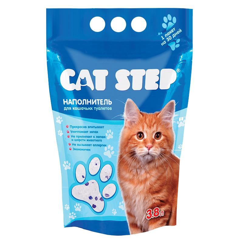 Наполнитель для кошачьего туалета Cat Step, силикагелевый, 3,8 лМт-126Гигиенический наполнитель Cat Step обеспечит вашей кошке всегда чистый туалет и устранит неприятный запах. Наполнитель представляет собой коллоидную форму кварца, разработанную специально для максимального впитывания. Миллионы микроскопических пор в каждом кристалле обеспечивают мгновенное поглощение жидкости и запаха, запирая их внутри. Наполнитель не ароматизирован, не выделяет пыли, не прилипает к лапам и шерсти животного, а также прост в использовании. Состав: силикагель. Вес: 1,81 кг. Товар сертифицирован.