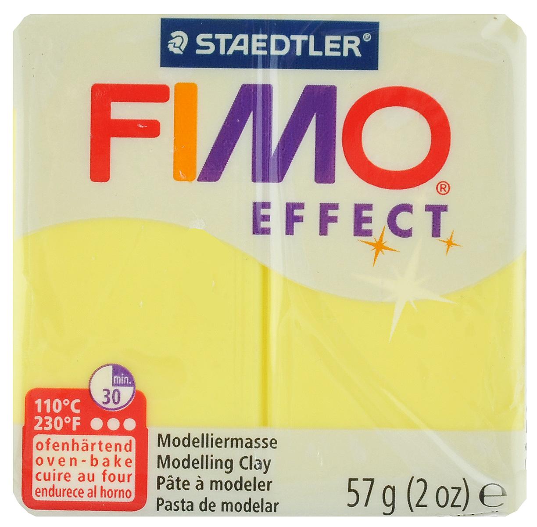 Полимерная глина Fimo Effect, цвет: полупрозрачный желтый, 56 г8020-104Мягкая глина на полимерной основе (пластика) Fimo Effect идеально подходит для лепки небольших изделий (украшений, скульптурок, кукол) и для моделирования. Глина обладает отличными пластичными свойствами, хорошо размягчается и лепится, легко смешивается между собой, благодаря чему можно создать огромное количество поделок любых цветов и оттенков. Блок поделен на восемь сегментов, что позволяет легче разделять глину на порции. В домашних условиях готовая поделка выпекается в духовом шкафу при температуре 110°С в течение 15-30 минут (в зависимости от величины изделия). Отвердевшие изделия могут быть раскрашены акриловыми красками, покрыты лаком, склеены друг с другом или с другими материалами.