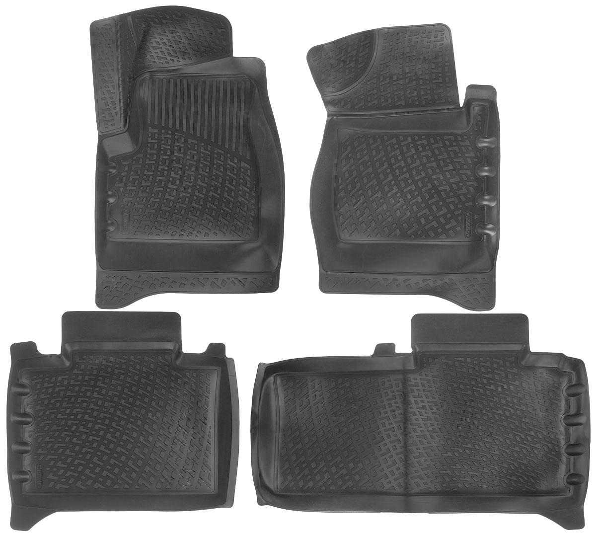 Набор автомобильных ковриков L.Locker УАЗ Patriot (1) 2012, в салон, 4 шт0282020201Набор L.Locker УАЗ Patriot (1) 2012, изготовленный из полиуретана, состоит из 4 антискользящих 3D ковриков, которые производятся индивидуально для каждой модели автомобиля. Изделие точно повторяет геометрию пола автомобиля, имеет высокий борт, обладает повышенной износоустойчивостью, лишено резкого запаха и сохраняет свои потребительские свойства в широком диапазоне температур от -50°С до +50°С. Комплектация: 4 шт. Размер ковриков: 82 см х 52 см; 64 см х 57 см; 59 см х 90 см; 76 см х 51 см.