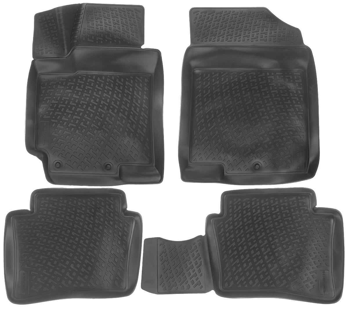 Набор автомобильных ковриков L.Locker Hyundai Solaris 2010, в салон, 4 шт0204140101Набор L.Locker Hyundai Solaris 2010, изготовленный из полиуретана, состоит из 4 антискользящих 3D ковриков, которые производятся индивидуально для каждой модели автомобиля. Изделие точно повторяет геометрию пола автомобиля, имеет высокий борт, обладает повышенной износоустойчивостью, лишено резкого запаха и сохраняет свои потребительские свойства в широком диапазоне температур от -50°С до +50°С. Комплектация: 4 шт. Размер ковриков: 75 см х 57 см; 56 см х 45 см; 56 см х 45 см; 75 см х 57 см.