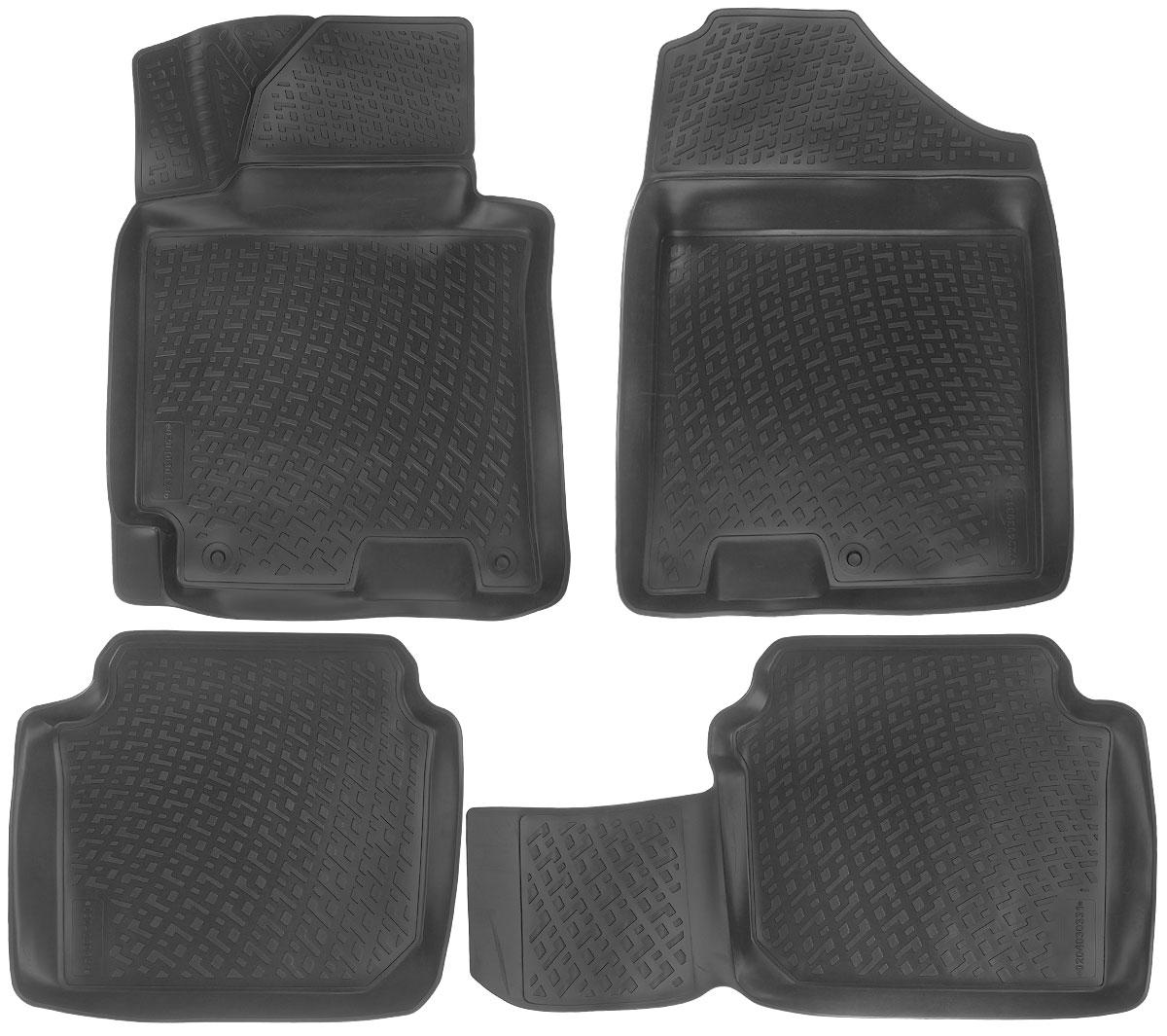Набор автомобильных ковриков L.Locker Hyundai Elantra 2011, в салон, 4 шт0204030301Набор L.Locker Hyundai Elantra 2011, изготовленный из полиуретана, состоит из 4 антискользящих 3D ковриков, которые производятся индивидуально для каждой модели автомобиля. Изделие точно повторяет геометрию пола автомобиля, имеет высокий борт, обладает повышенной износоустойчивостью, лишено резкого запаха и сохраняет свои потребительские свойства в широком диапазоне температур от -50°С до +50°С. Комплектация: 4 шт. Размер ковриков: 77 см х 57 см; 57 см х 50 см; 89 см х 49 см; 77 см х 58 см.