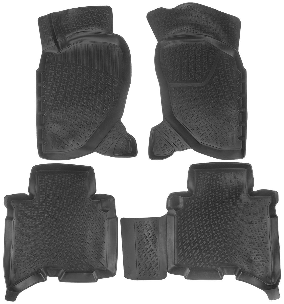 Набор автомобильных ковриков L.Locker Great Wall Hover H3/H5 2010, в салон, 4 шт0230010601Набор L.Locker Great Wall Hover H3/H5 2010, изготовленный из полиуретана, состоит из 4 антискользящих 3D ковриков, которые производятся индивидуально для каждой модели автомобиля. Изделие точно повторяет геометрию пола автомобиля, имеет высокий борт, обладает повышенной износоустойчивостью, лишено резкого запаха и сохраняет свои потребительские свойства в широком диапазоне температур от -50°С до +50°С. Комплектация: 4 шт. Размер ковриков: 80 см х 50 см; 84 см х 62 см; 73 см х 60 см; 80 см х 52 см.