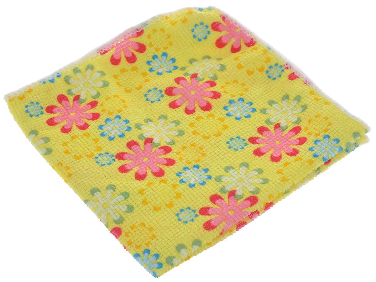 Салфетка для уборки Youll Love Маленькие цветы, цвет:желтый, 30 см х 30 см58042_желтыйСалфетка Youll Love Маленькие цветы, изготовленная из 20% полиамида и 80% полиэфира, предназначена для очищения загрязнений на любых поверхностях. Изделие обладает высокой износоустойчивостью и рассчитано на многократное использование, легко моется в теплой воде с мягкими чистящими средствами. Супервпитывающая салфетка не оставляет разводов и ворсинок. Размер: 30 см х 30 см.