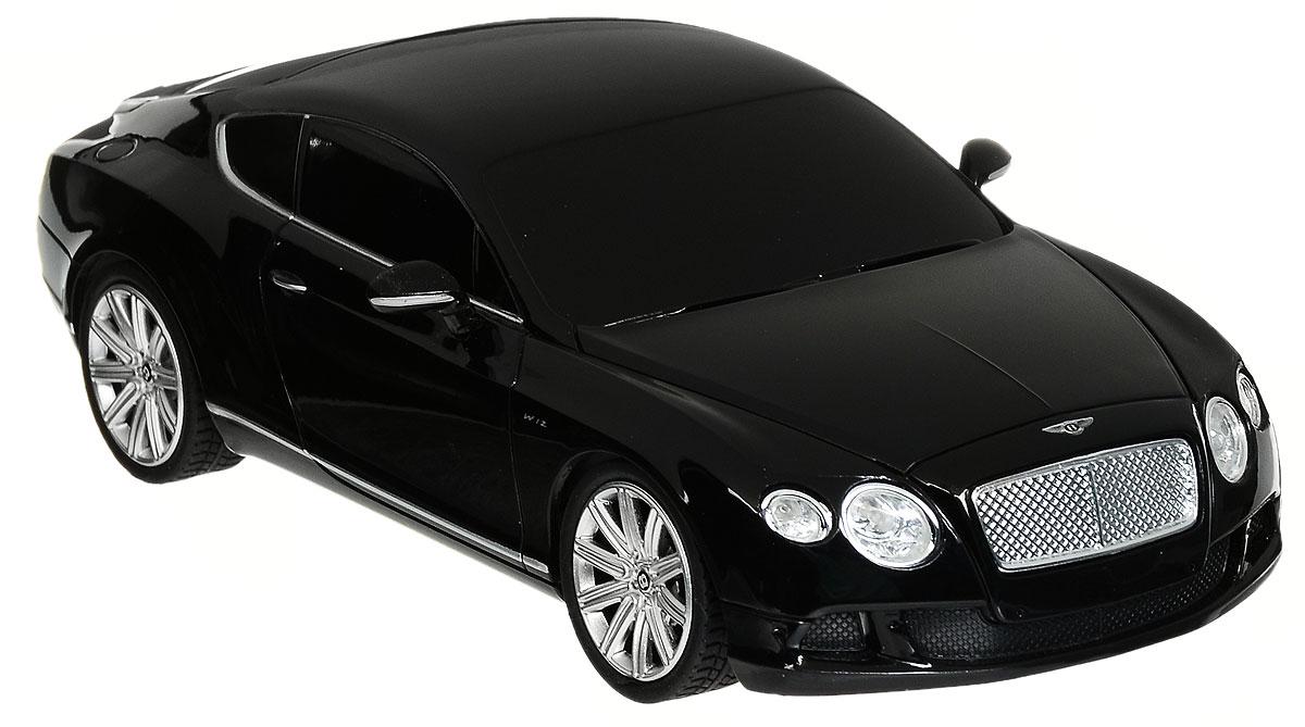 Rastar Радиоуправляемая модель Bentley Continental GT Speed цвет черный масштаб 1:2448600_черныйРадиоуправляемая модель Rastar Bentley Continental GT Speed станет отличным подарком любому мальчику! Все дети хотят иметь в наборе своих игрушек ослепительные, невероятные и крутые автомобили на радиоуправлении. Тем более, если это автомобиль известной марки с проработкой всех деталей, удивляющий приятным качеством и видом. Одной из таких моделей является автомобиль на радиоуправлении Rastar Bentley Continental GT Speed. Это точная копия настоящего авто в масштабе 1:24. Авто обладает неповторимым провокационным стилем и спортивным характером. Потрясающая маневренность, динамика и покладистость - отличительные качества этой модели. Возможные движения: вперед, назад, вправо, влево, остановка. Имеются световые эффекты. Пульт управления работает на частоте 27 MHz. Для работы игрушки необходимы 3 батарейки типа АА (не входят в комплект). Для работы пульта управления необходимы 2 батарейки типа АА (не входят в комплект).