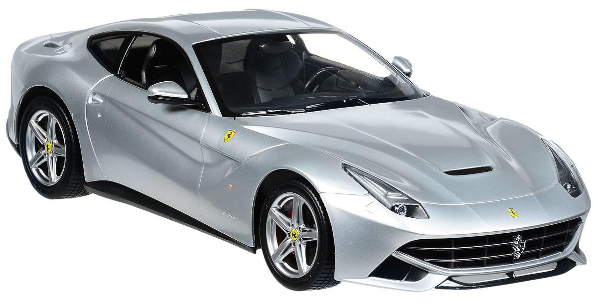 Rastar Радиоуправляемая модель Ferrari F12 Berlinetta цвет серебристый масштаб 1:1449100_серебристыйРадиоуправляемая модель Rastar Ferrari F12 Berlinetta станет отличным подарком любому мальчику! Все дети хотят иметь в наборе своих игрушек ослепительные, невероятные и крутые автомобили на радиоуправлении. Тем более, если это автомобиль известной марки с проработкой всех деталей, удивляющий приятным качеством и видом. Одной из таких моделей является автомобиль на радиоуправлении Rastar Ferrari F12 Berlinetta. Это точная копия настоящего авто в масштабе 1:14. Авто обладает неповторимым провокационным стилем и спортивным характером. Потрясающая маневренность, динамика и покладистость - отличительные качества этой модели. Возможные движения: вперед, назад, вправо, влево, остановка. Имеются световые эффекты. Пульт управления работает на частоте 40 MHz. Для работы игрушки необходимы 5 батареек типа АА (не входят в комплект). Для работы пульта управления необходима 1 батарейка 9V (6F22) (не входит в комплект).
