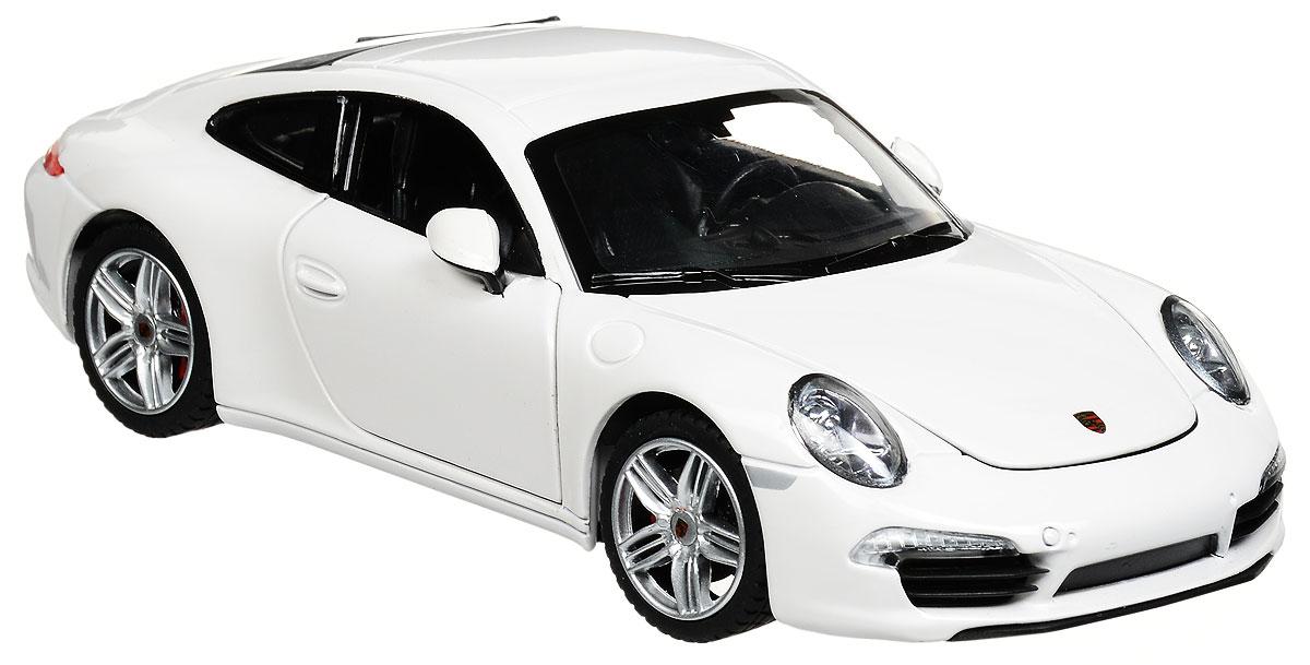 Rastar Коллекционная модель Porsche 911 Carrera S цвет белый56200_белыйКоллекционная модель Rastar Porsche 911 Carrera S привлечет внимание как ребенка, так и взрослого коллекционера. Машинка является точной уменьшенной копией настоящего автомобиля. Модель выполнена из металла с использованием пластика и оснащена резиновыми колесами, обеспечивающими хорошее сцепление с любой поверхностью пола. Колеса и руль вращаются, капот и дверцы открываются. Коллекционная модель Rastar Porsche 911 Carrera S станет отличным подарком и украшением любой коллекции!