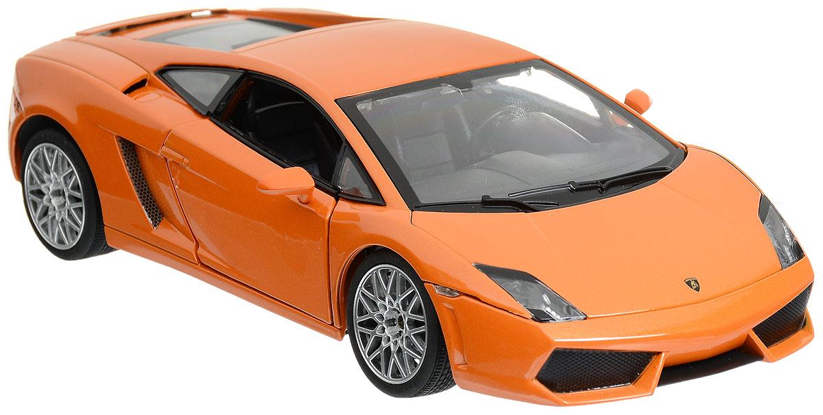Rastar Модель автомобиля Lamborghini Gallardo LP560 4 цвет оранжевый34500_оранжевыйКоллекционная модель Rastar Lamborghini Gallardo LP560-4 привлечет внимание как ребенка, так и взрослого коллекционера. Машинка является точной уменьшенной копией настоящего автомобиля. Модель выполнена из металла с использованием пластика и оснащена резиновыми колесами, обеспечивающими хорошее сцепление с любой поверхностью пола. Колеса и руль вращаются, дверцы открываются. Коллекционная модель Rastar Lamborghini Gallardo LP560-4 станет отличным подарком и украшением любой коллекции!